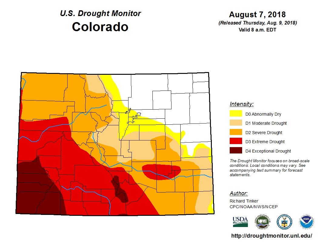 Photo: Drought Monitor Aug 9 2018