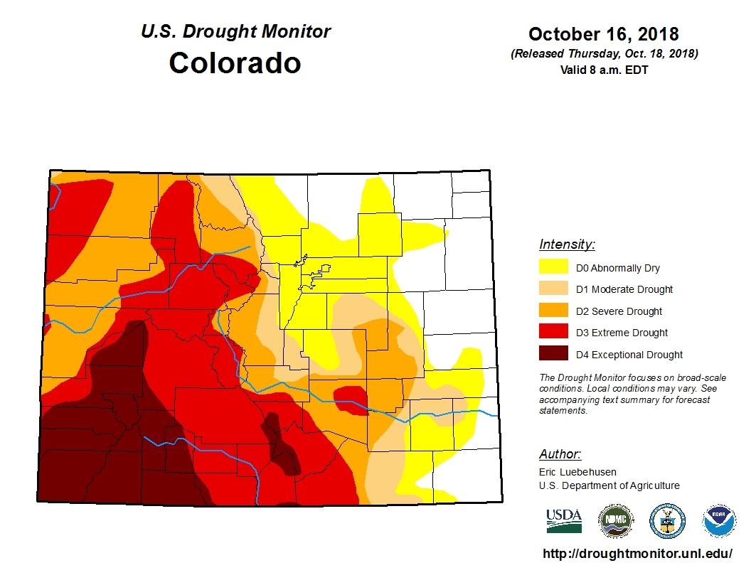 Photo: Drought Monitor 10-16-18