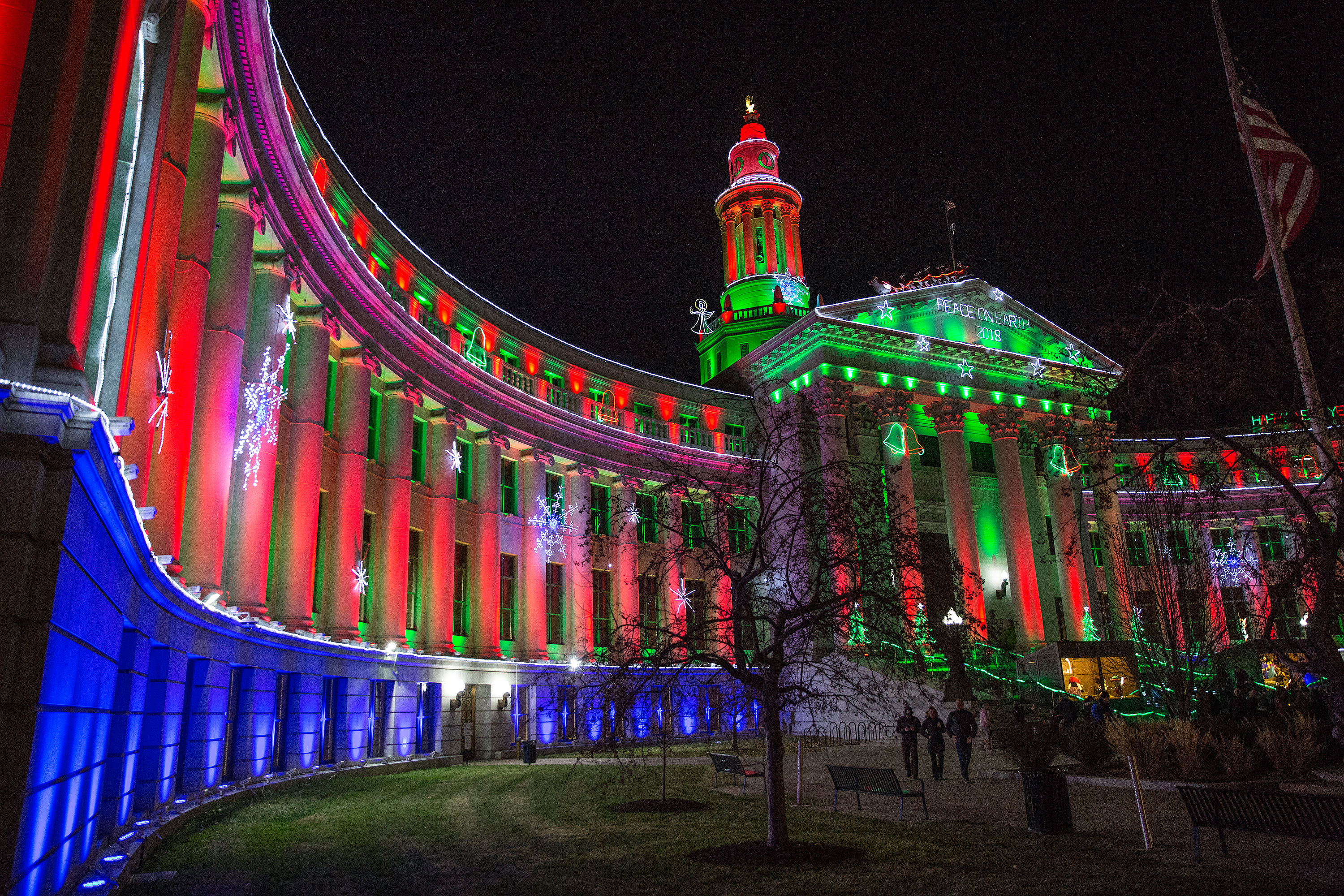 Photo: Denver City And County Building Holiday Lights 2018