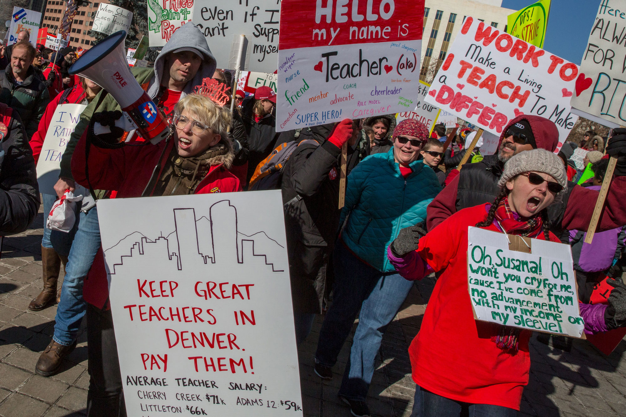 Photo: Denver Teacher Strike Monday 15 | Capitol Rally - HVD