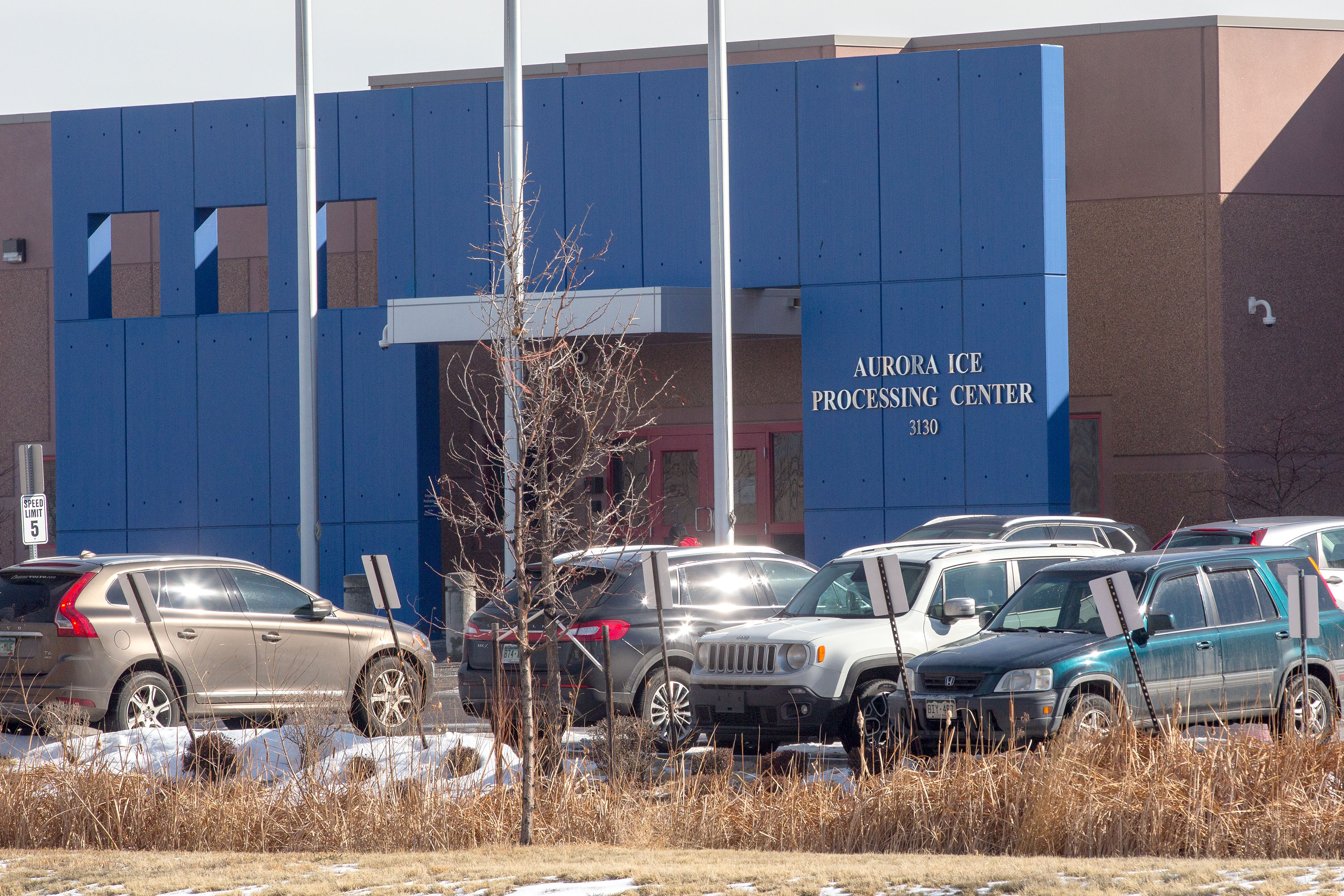 The Aurora GEO ICE detention facility on March 7, 2019.