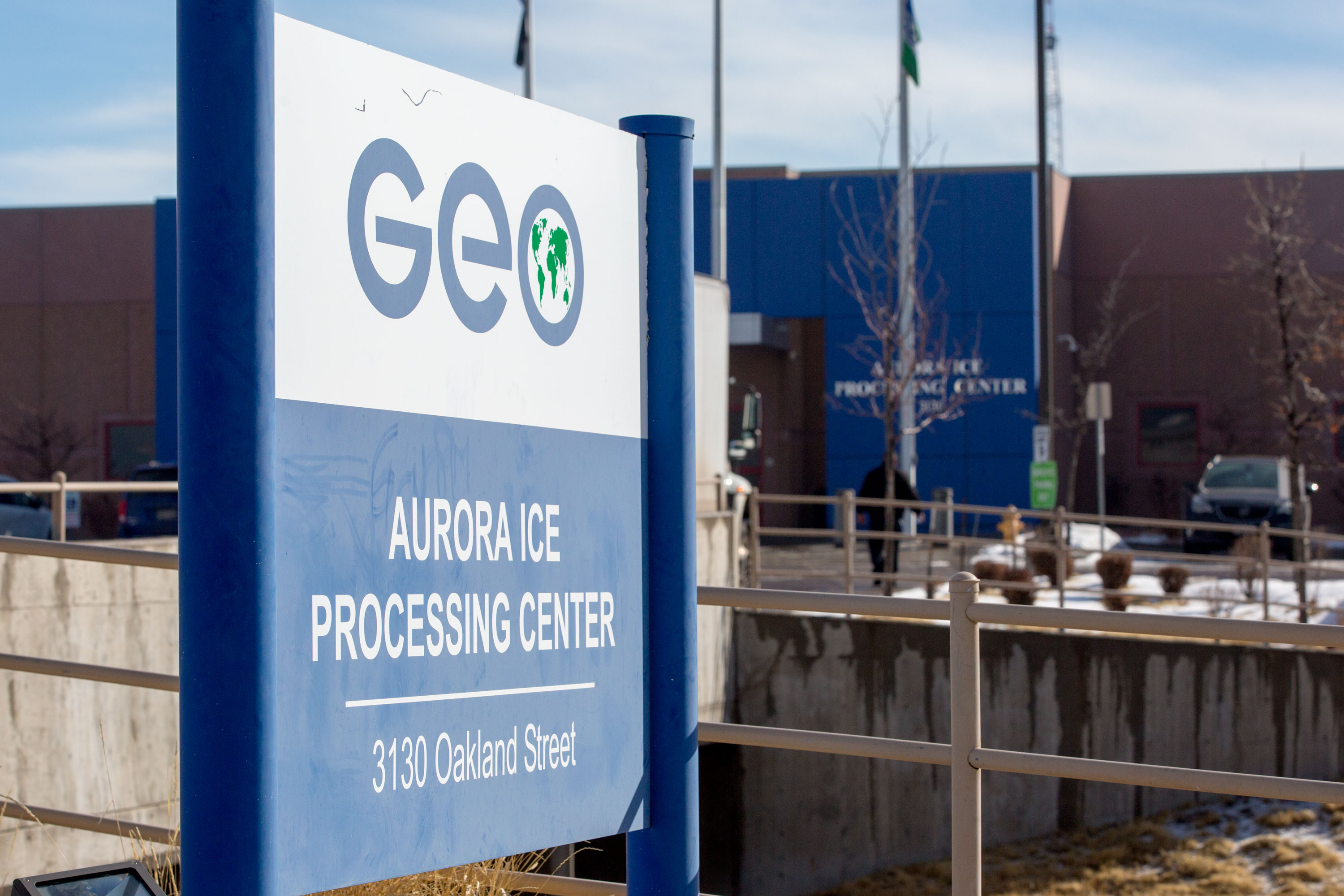 "<p><span style=""color: rgb(64, 69, 64);"">The Aurora GEO ICE detention facility on March 7, 2019.</span></p>"