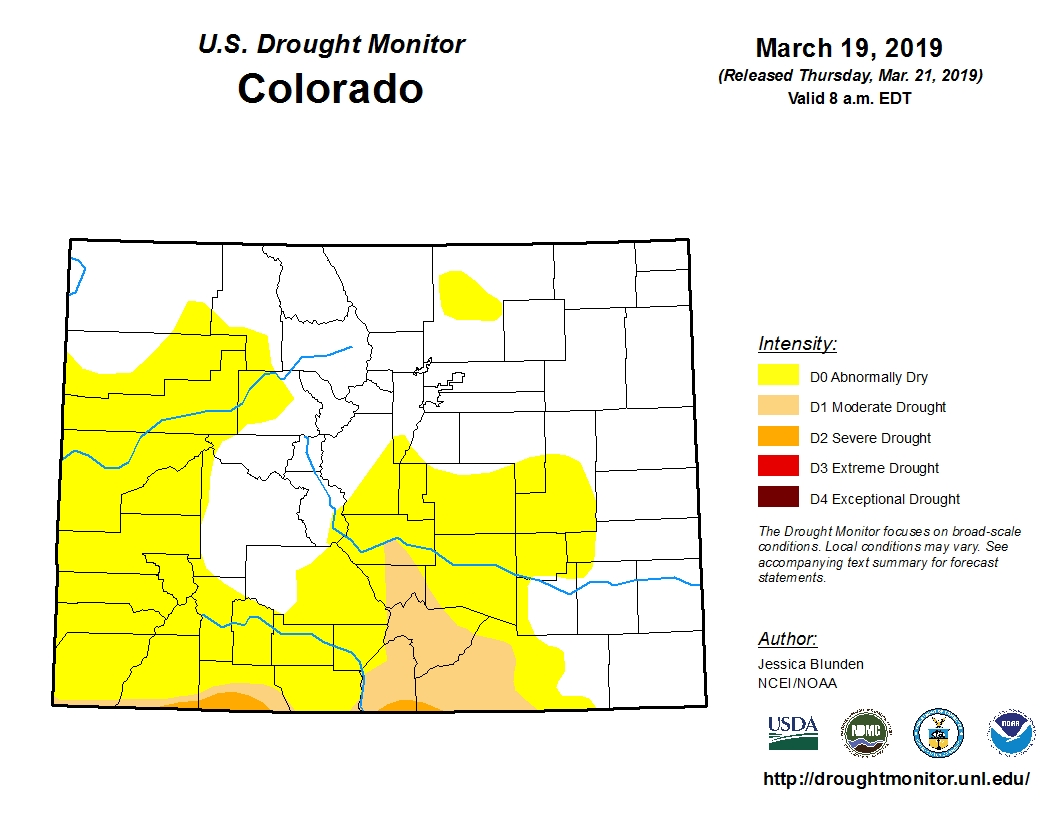 Photo: Drought Monitor 3/21/2019