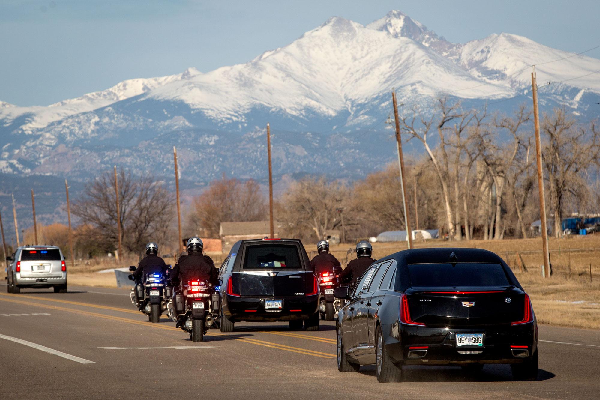 Photo: Cpl. Dan Groves Funeral 2 | Hearse And Longs Peak - HVD