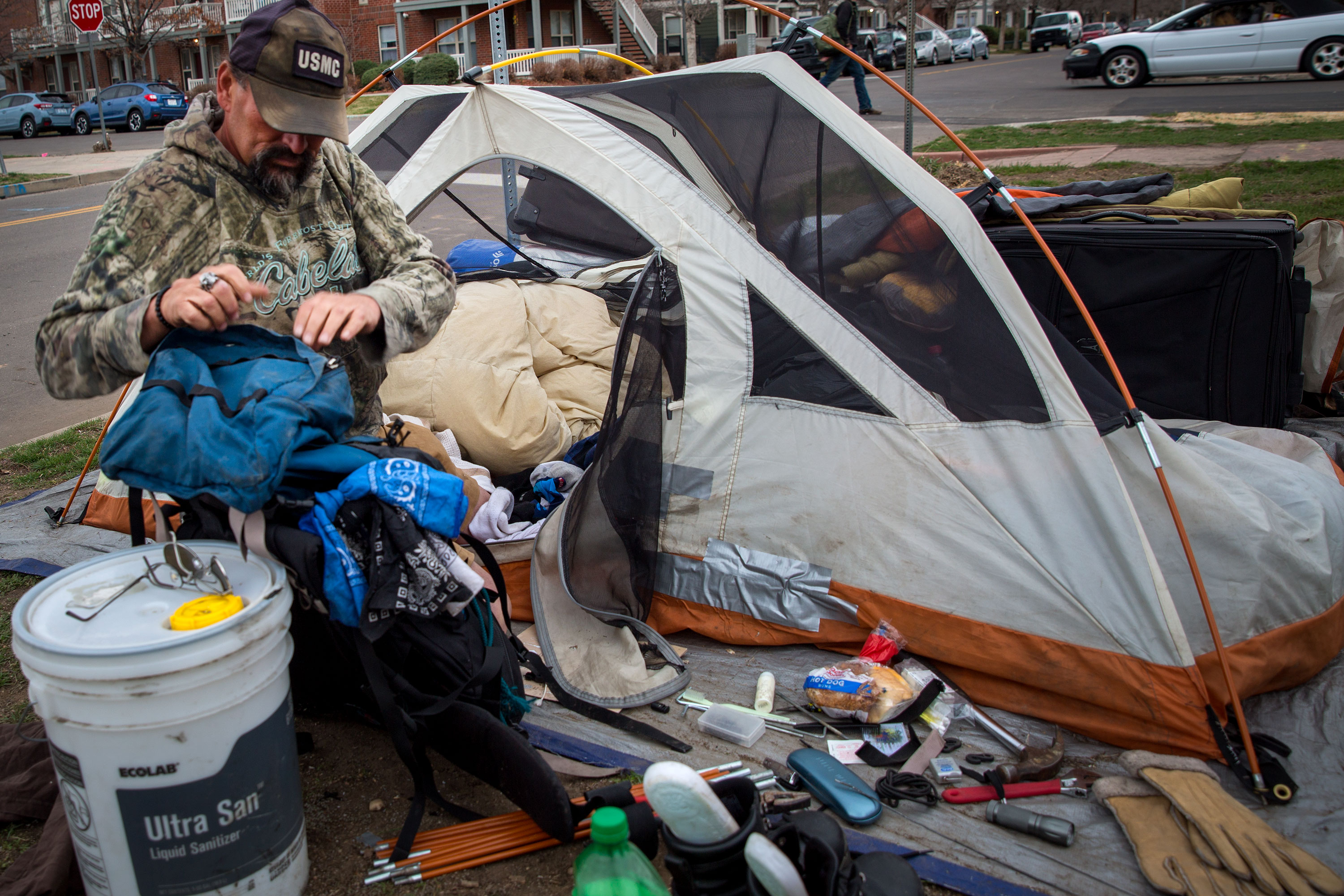 Photo: Denver Homeless Camp Arapahoe Wolf 2 20190327