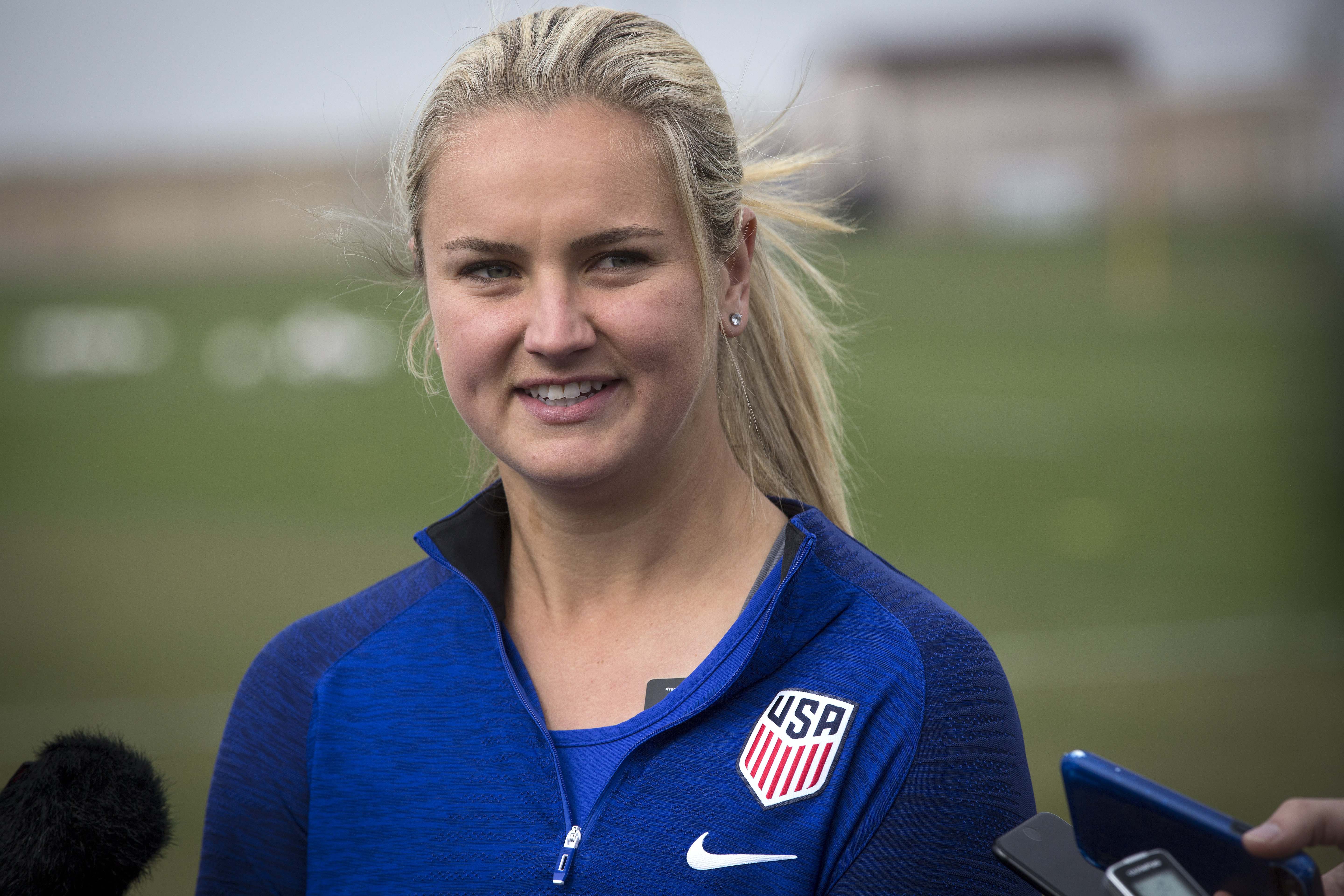 Women's National Team member Lindsey Horan of Golden on April 2, 2019.