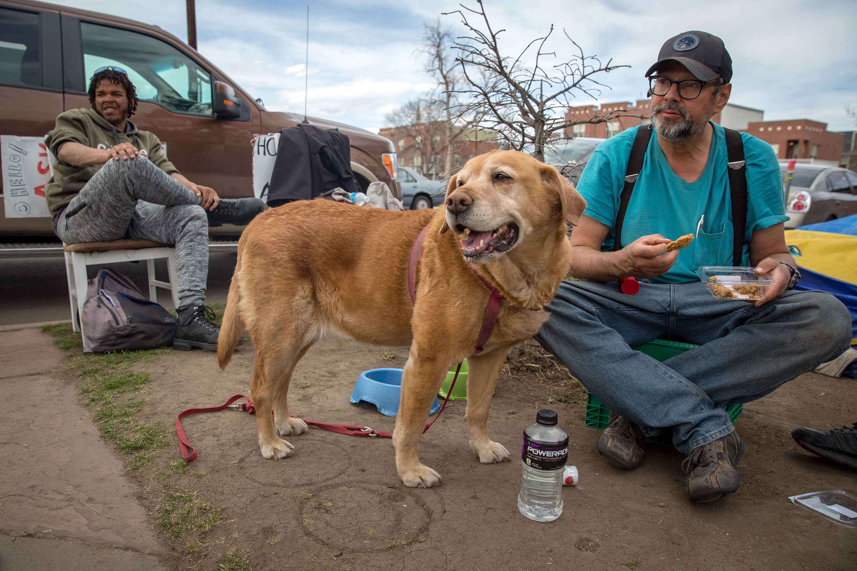 Photo: Denver Homeless Camp Dog 20190405