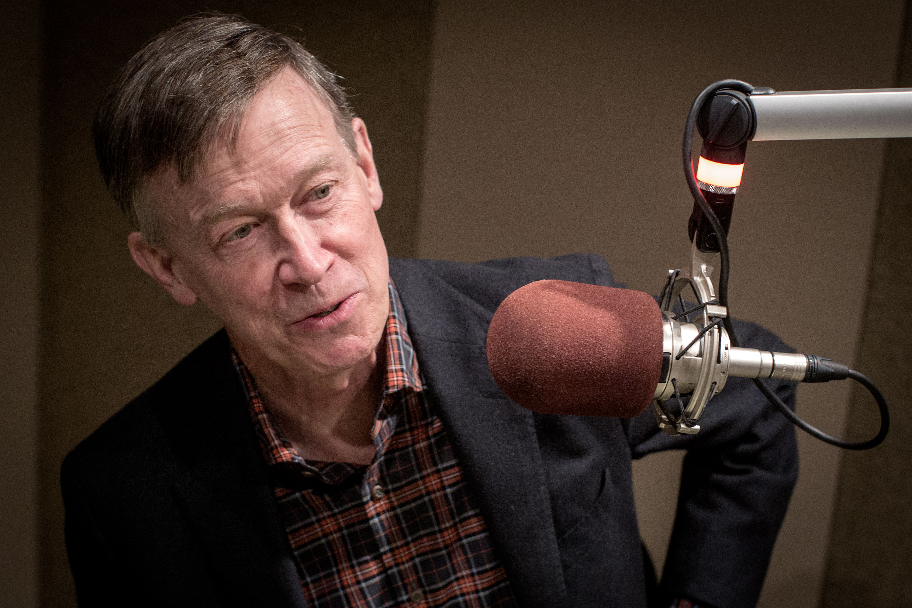 Presidential candidate and former Colorado Gov. John Hickenlooper at the CPRstudios Monday April 22, 2019.