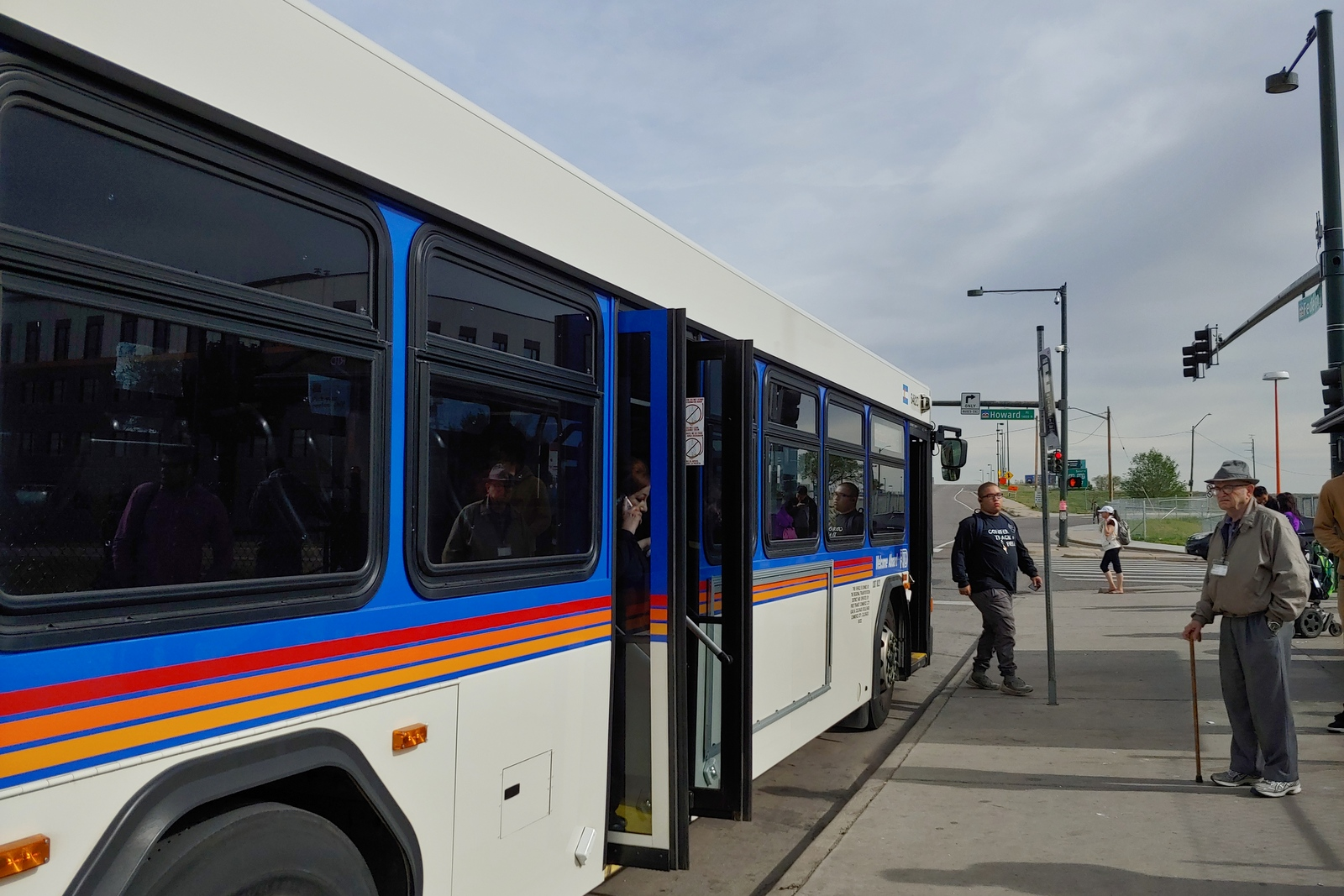 Photo: Federal Boulevard Howard Place West Colfax Intersection RTD Bus