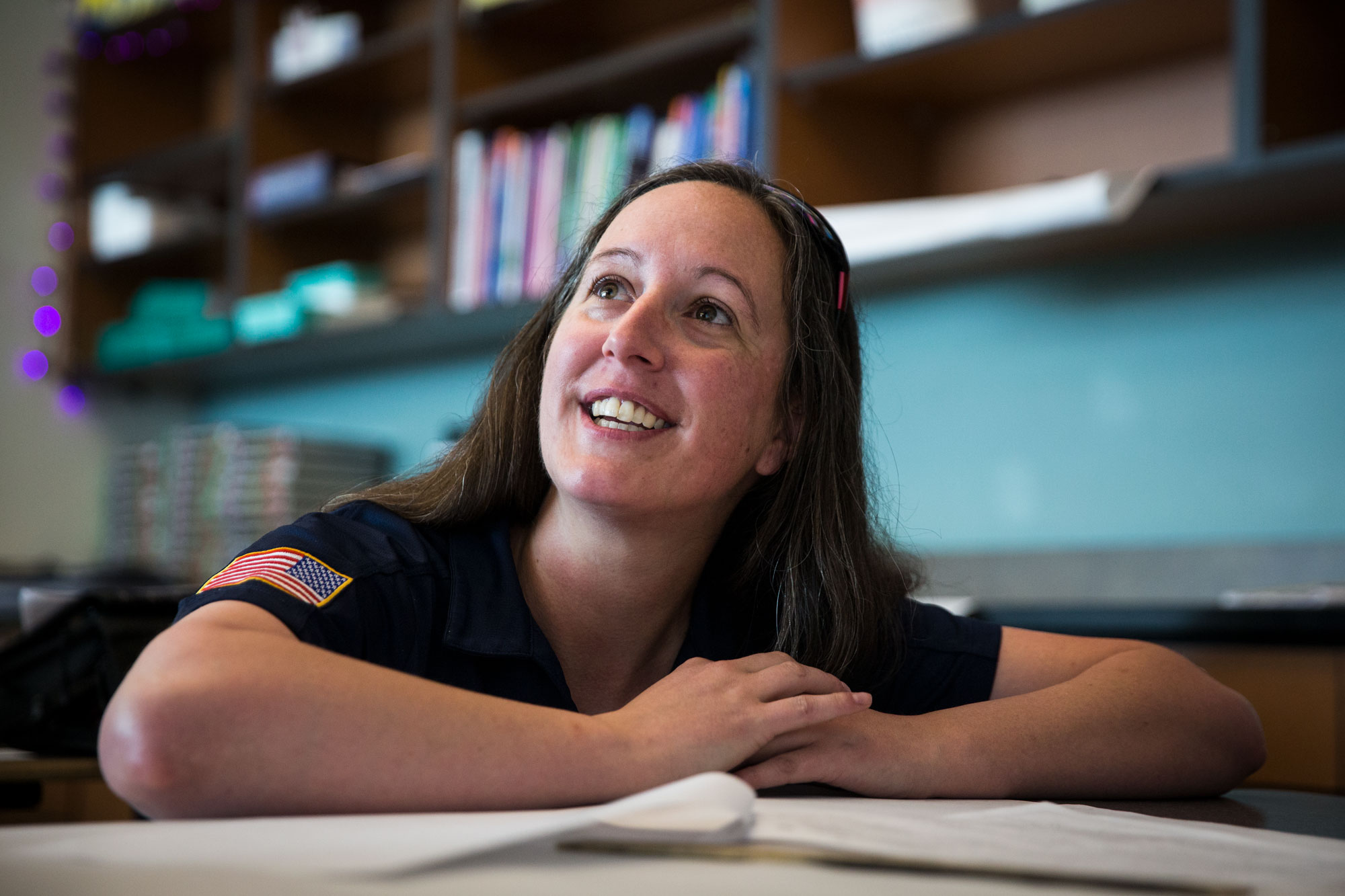 <p>Jessi Warthen served three tours of duty as a U.S. Marine in Iraq. Now she's a student teacher at Metro State.</p>