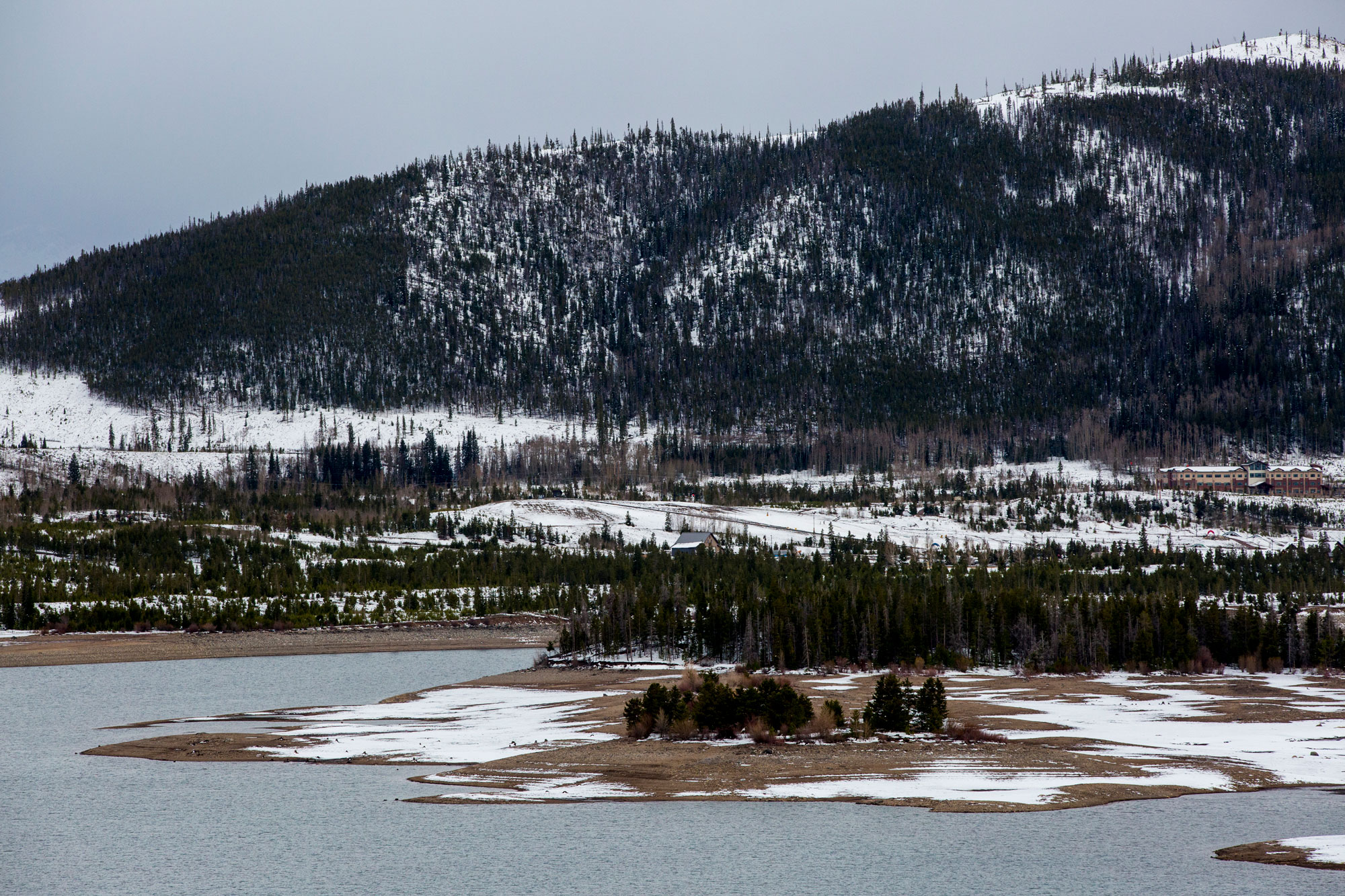 <p>The Dillon Reservoir begins to fill with water from the above-average snowpack in Colorado.</p>