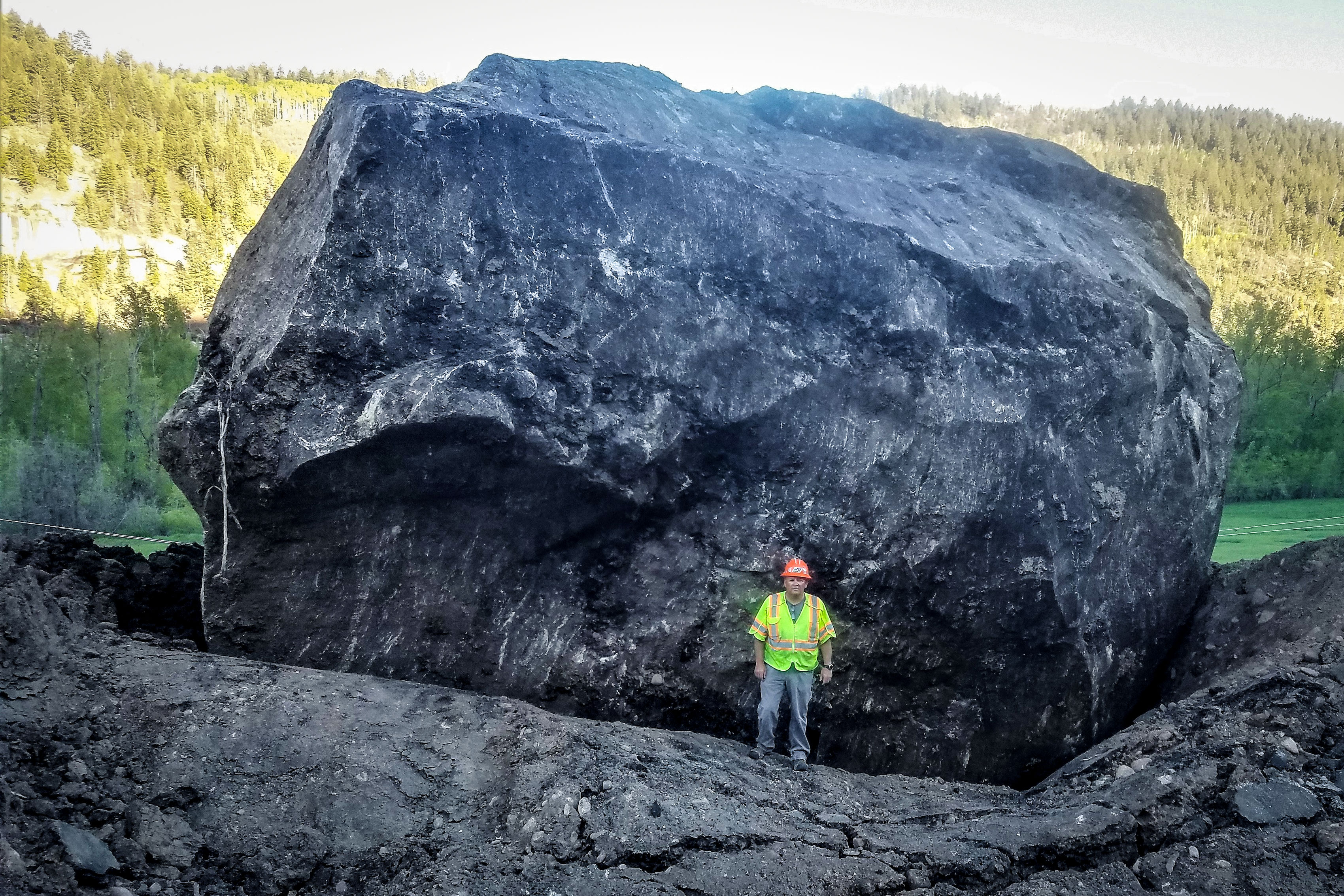Photo: Memorial Rock | Worker For Scale - CDOT