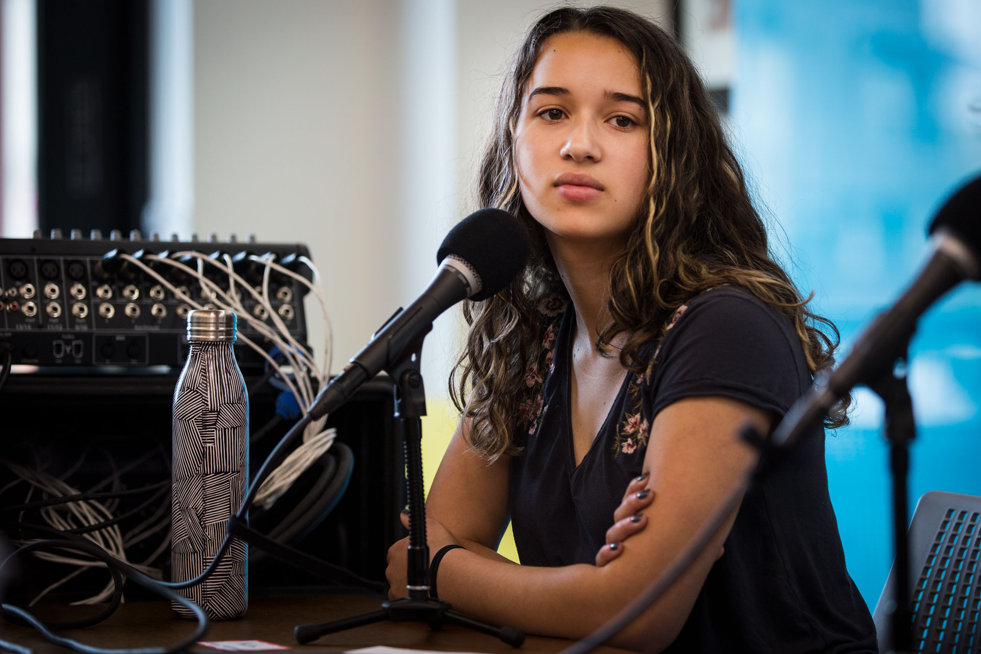 Photo: STEM Shooting Student Panel Colorado Matters 4 HV