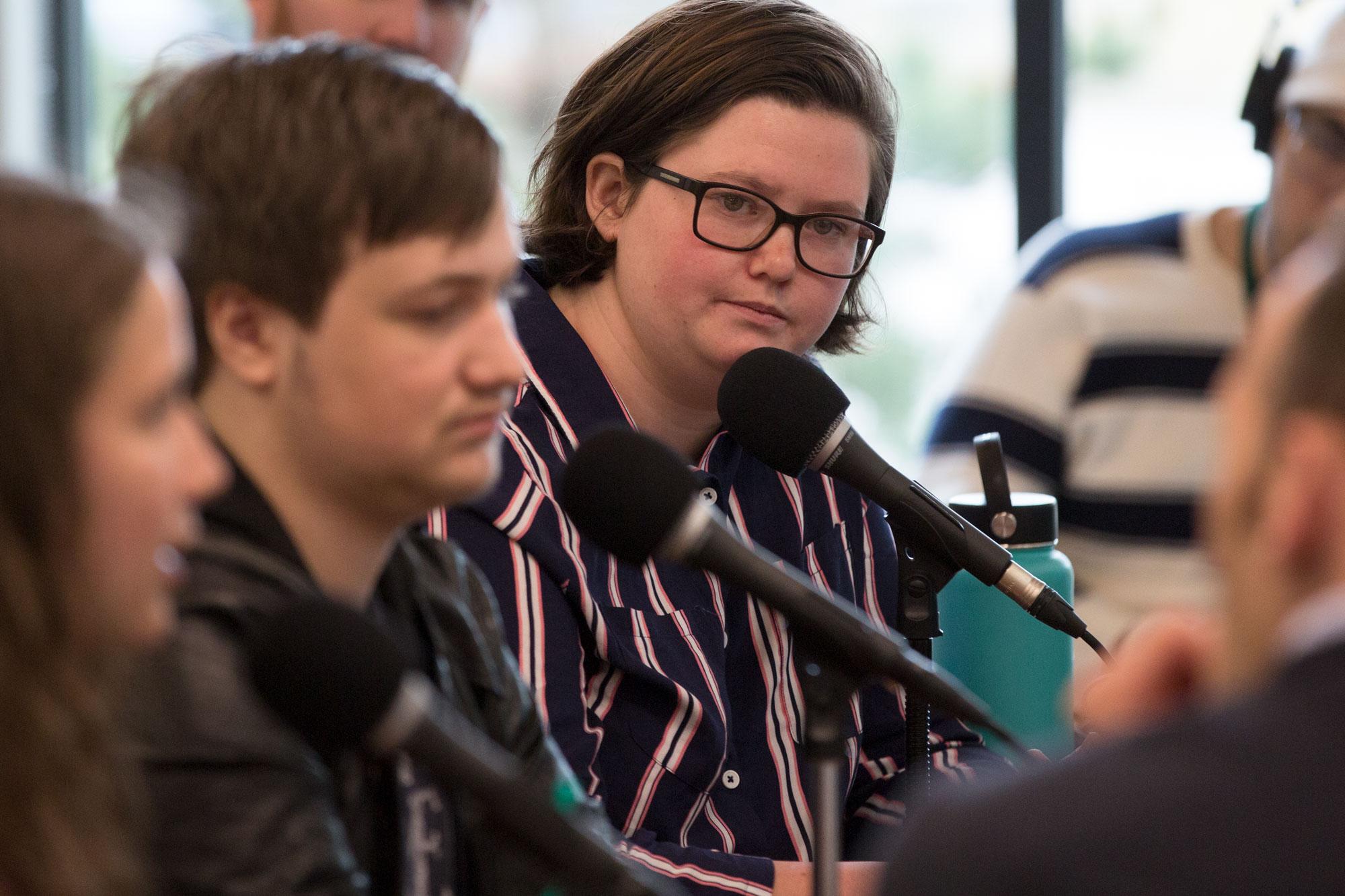 Photo: STEM Shooting Student Panel Colorado Matters 6 HV