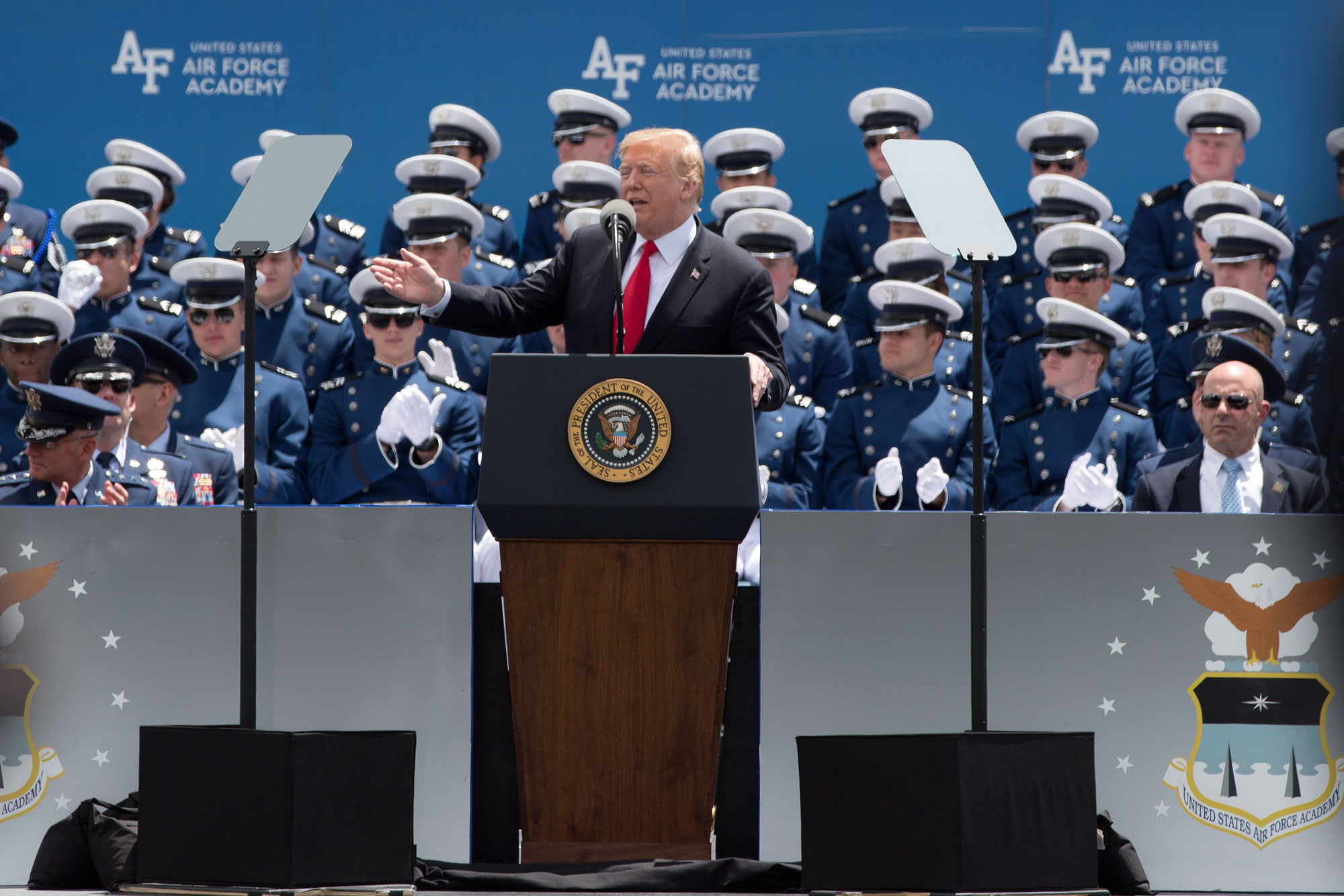 Photo: Trump speaks at Air Force Academy graduation