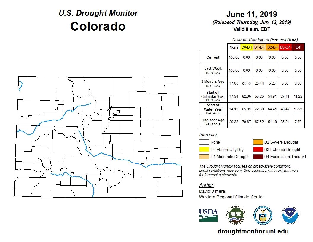 Graphic: Colorado Drought Monitor | June 13 2019