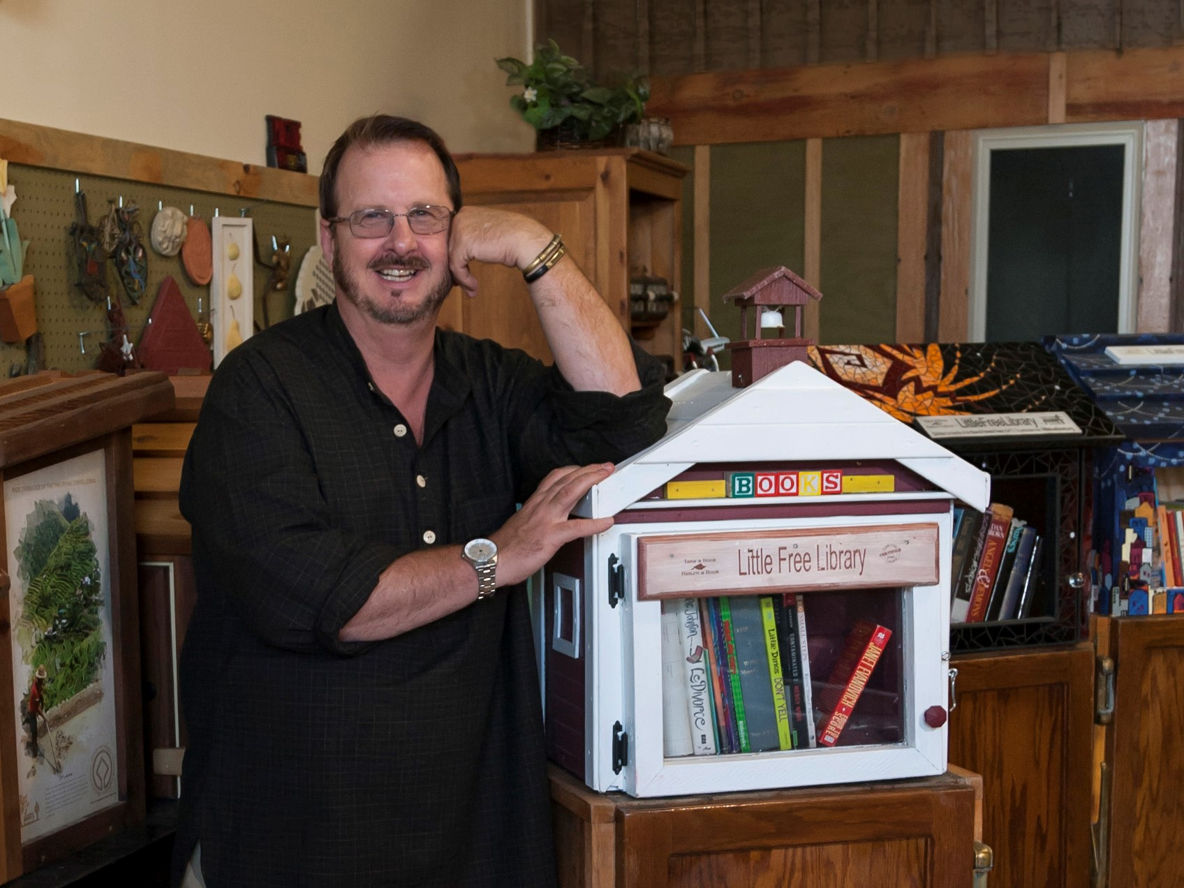 Photo: Little Free Library Founder Todd Bol