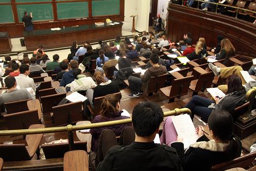Photo: College biology classroom