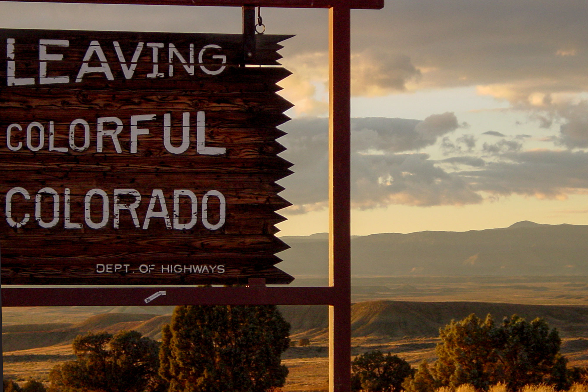 Photo: Leaving Colorado Sign - Flickr-CC