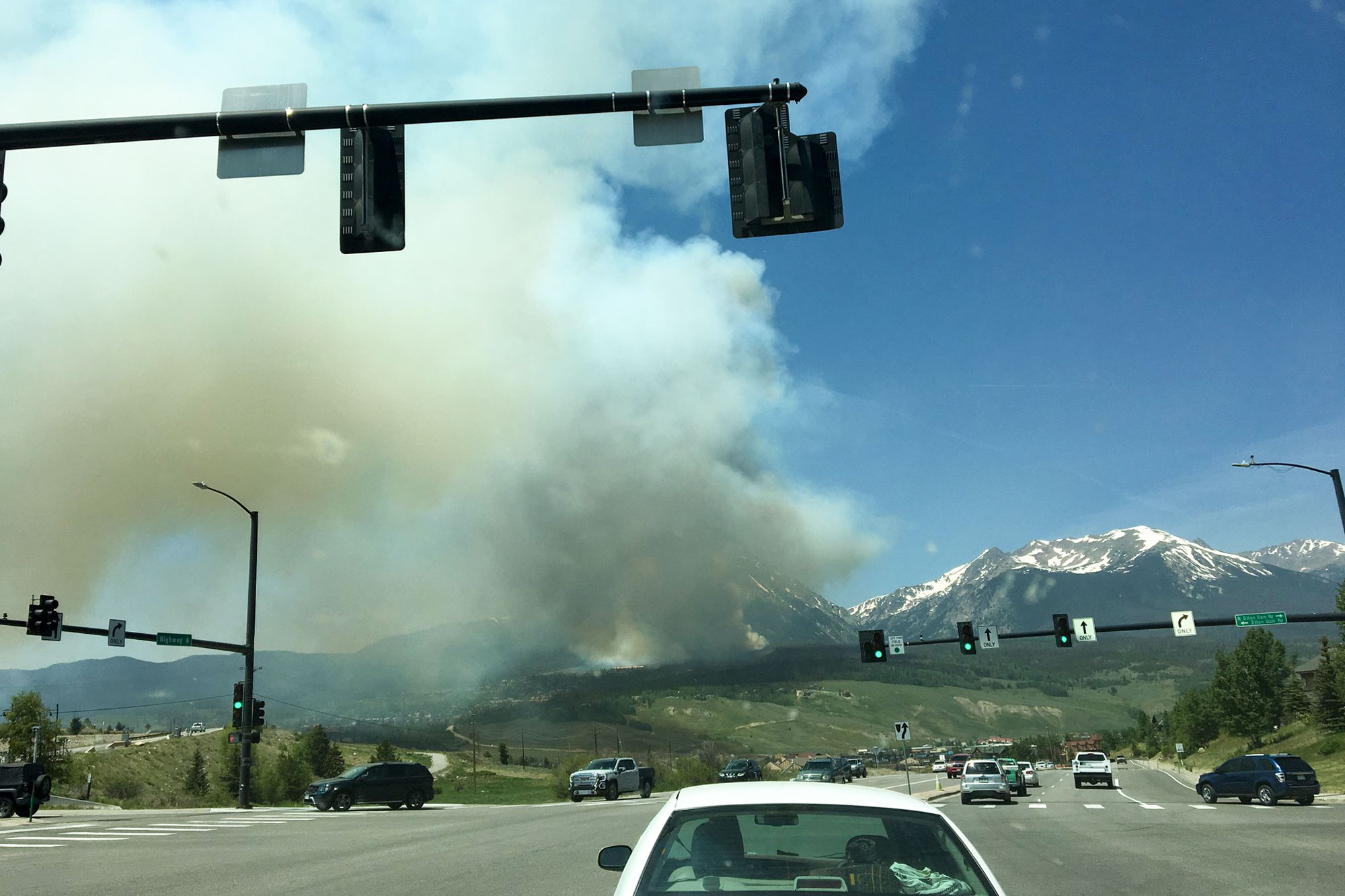 Photo: Buffalo Mountain Fire 1 | Smoke seen from - Summit FB