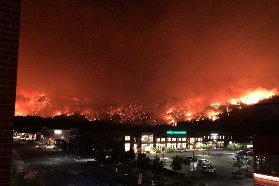 Photo: Lake Christine Fire 1 | July 4 Basalt - Courtesy