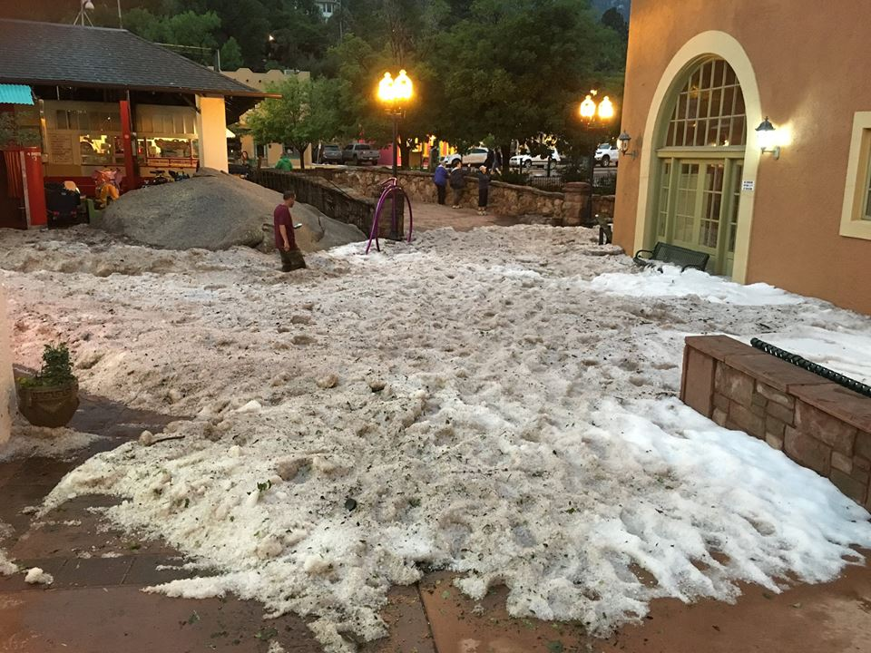 Photo: Manitou Springs hail piles up like snow | City of Manitou Springs