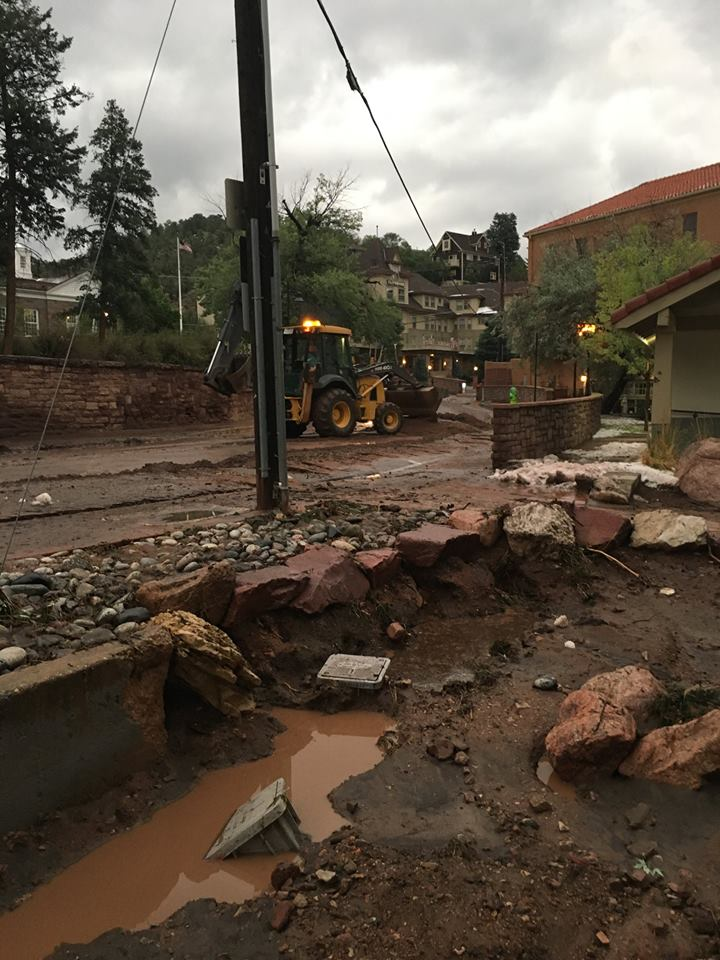 Photo: Flooding and mudslides in Manitou Springs | City of Manitou Springs