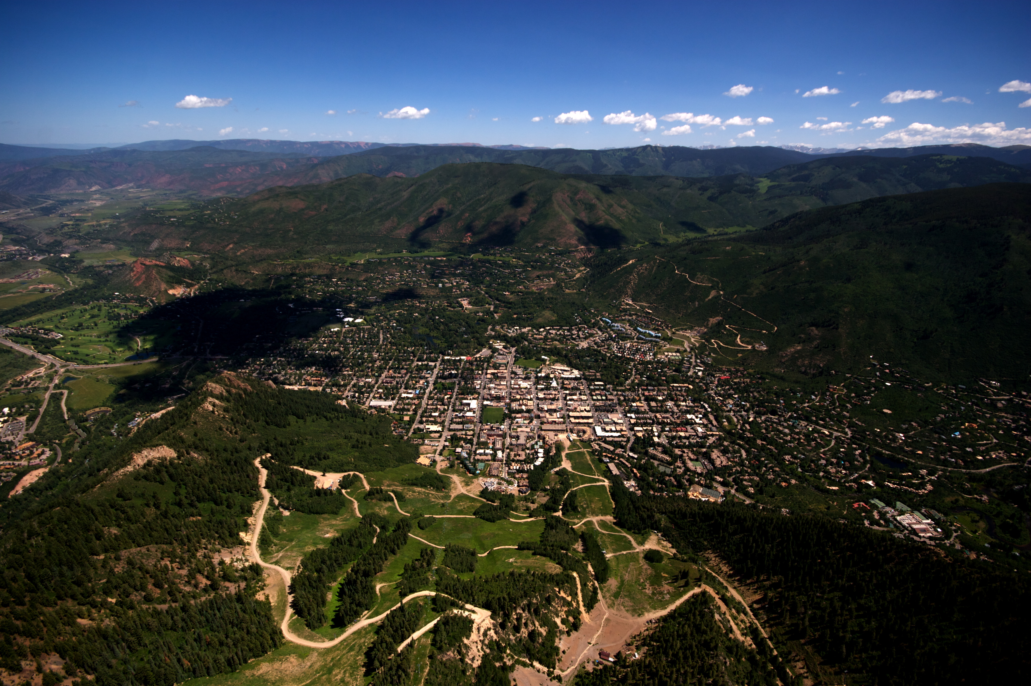 Photo: Aerial view of Aspen (Flickr/CC)