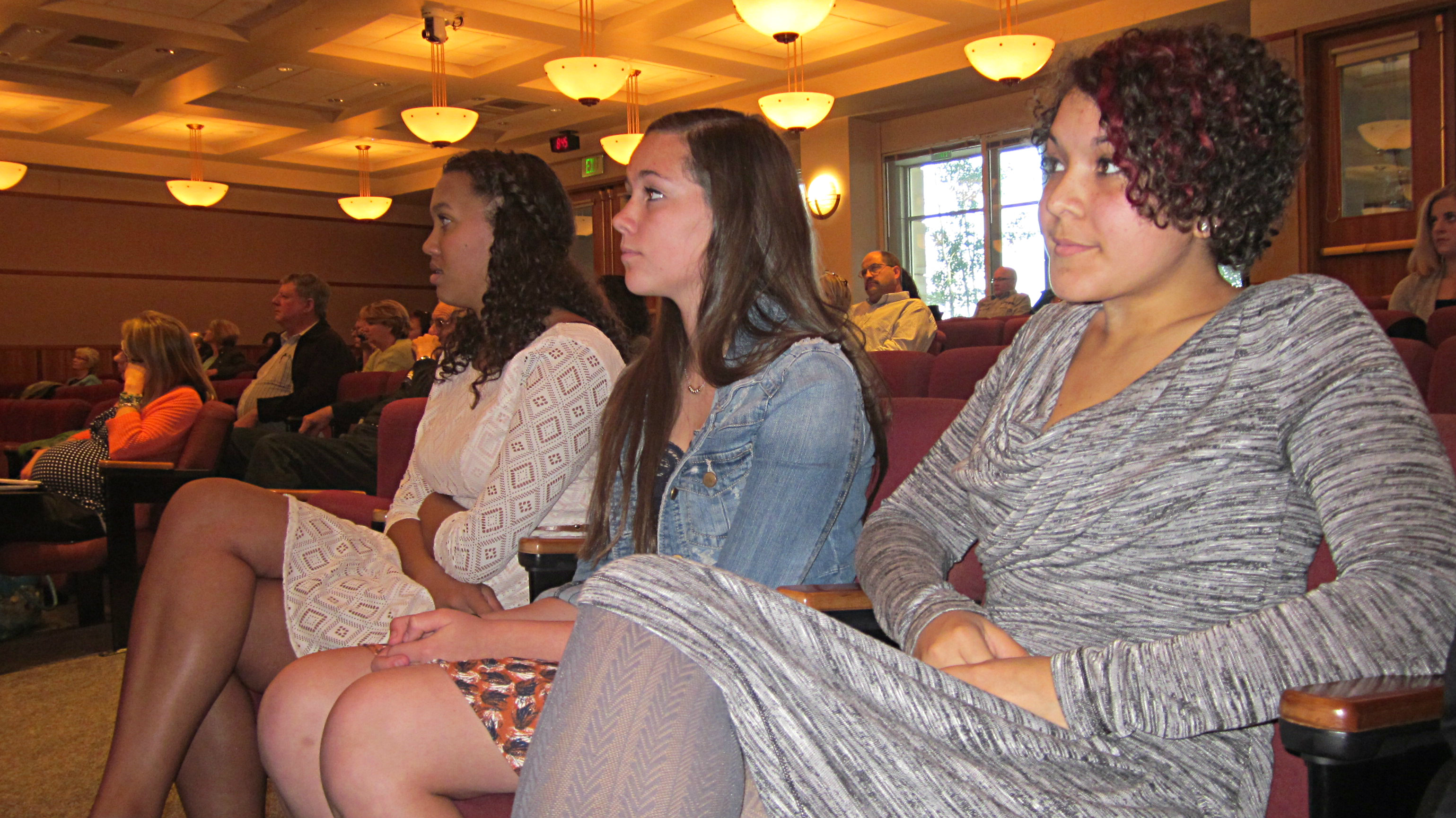 Photo: Teens getting ready to present to commission