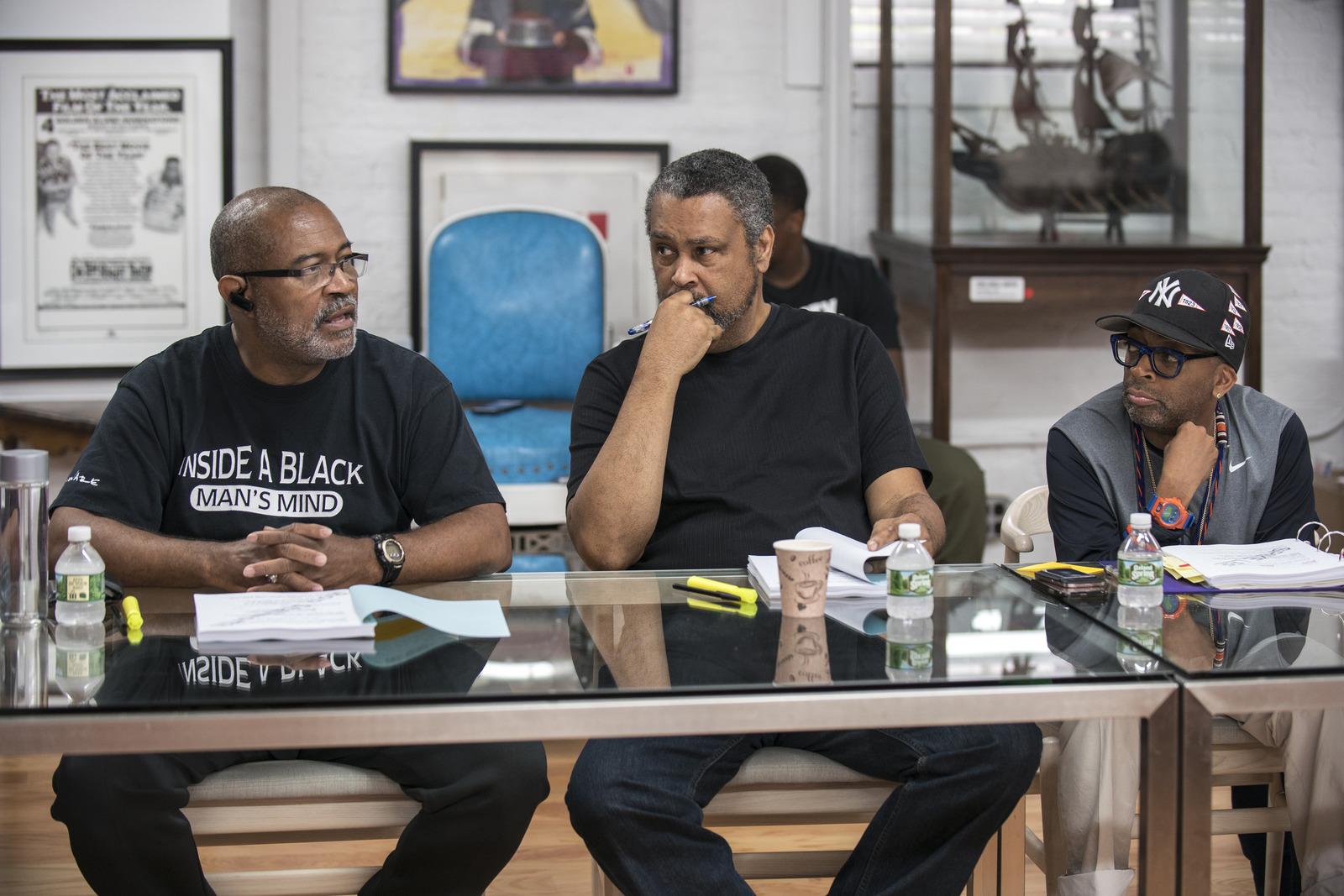 Photo: Ron Stallworth On Set With Spike Lee Black Klansman 3