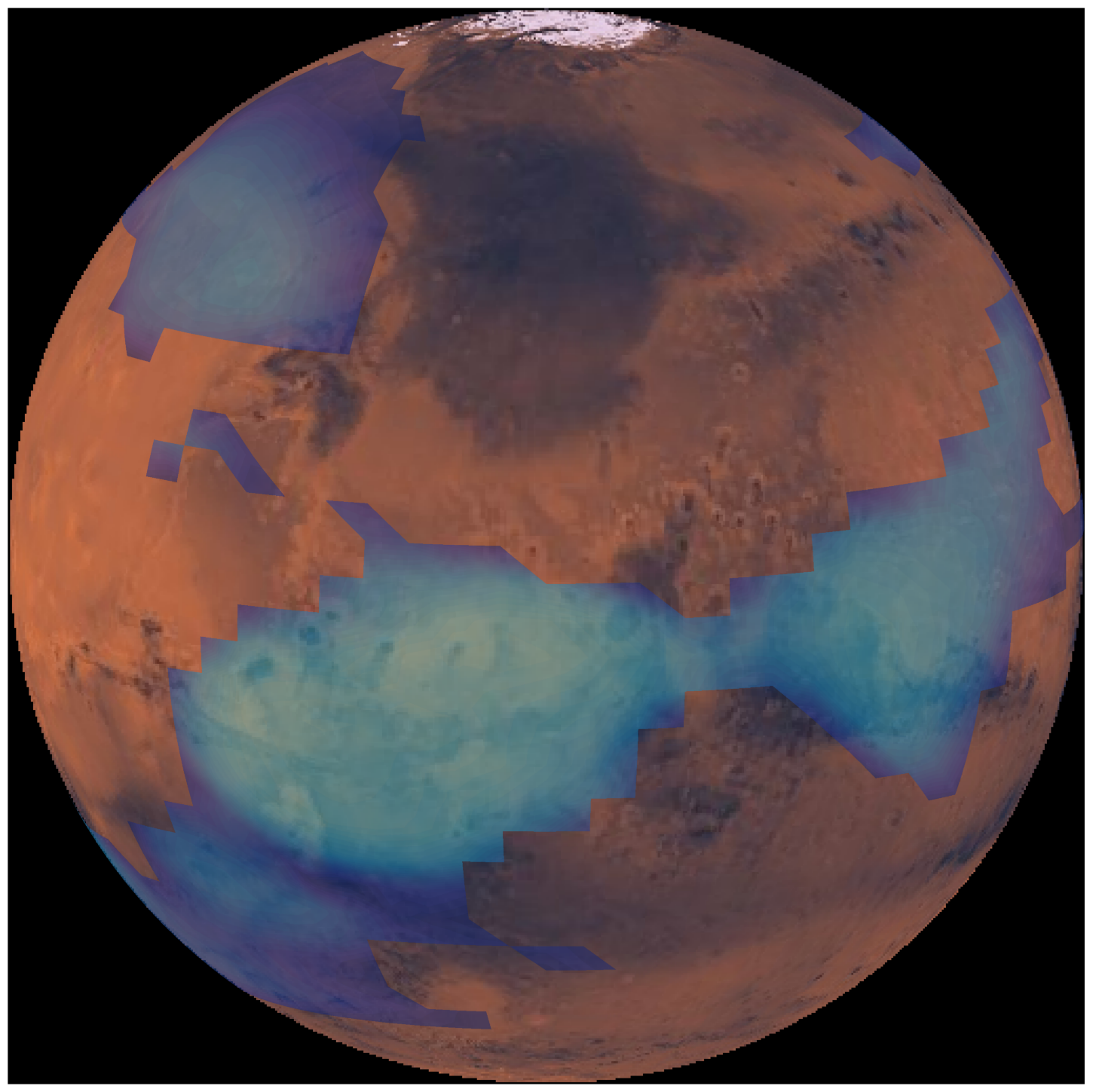 """<p><span style=""""color: rgb(34, 34, 34); font-family: Arial, Helvetica, sans-serif; font-size: small; background-color: rgb(255, 255, 255);"""">Acomputer simulation showing Mars' middle-atmosphericclouds.</span></p>"""