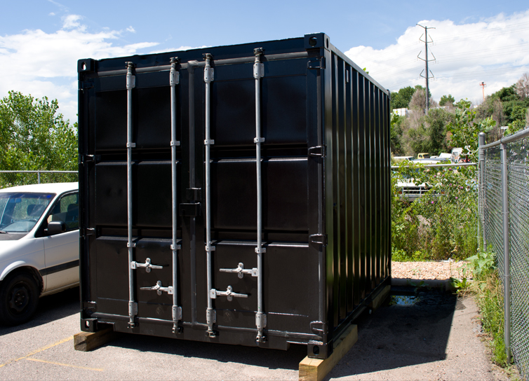 Photo: Black Cube shipping container