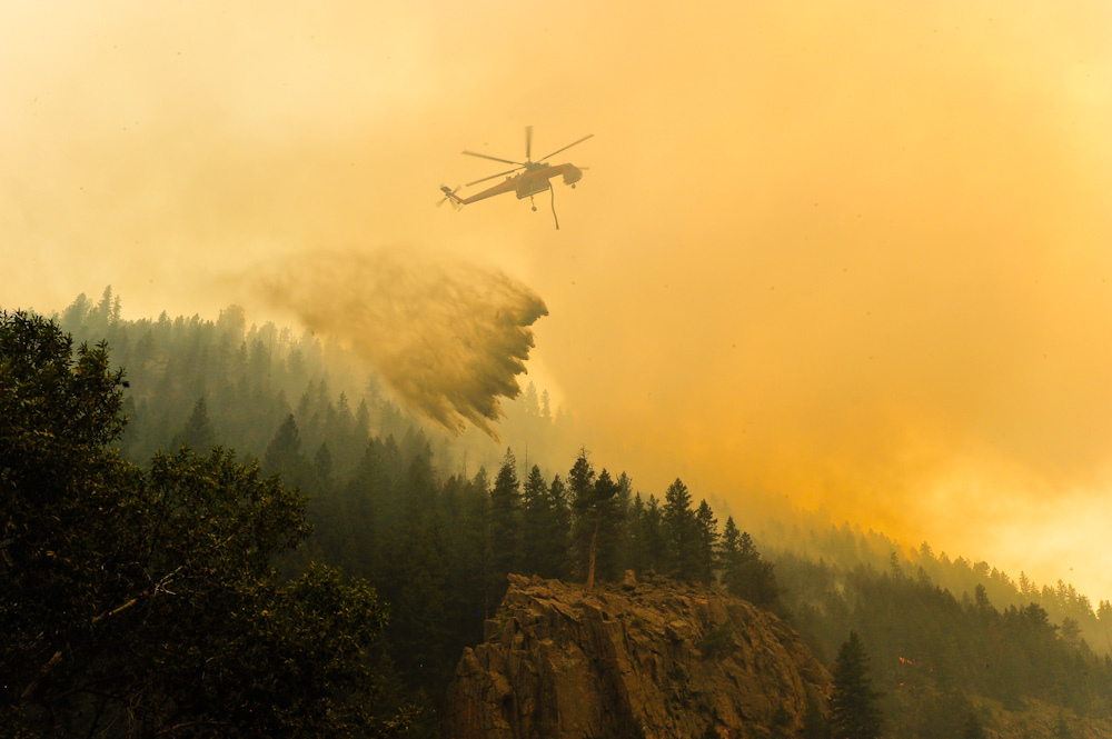 Photo: Wildfire, High Park 2012, Poudre Canyon