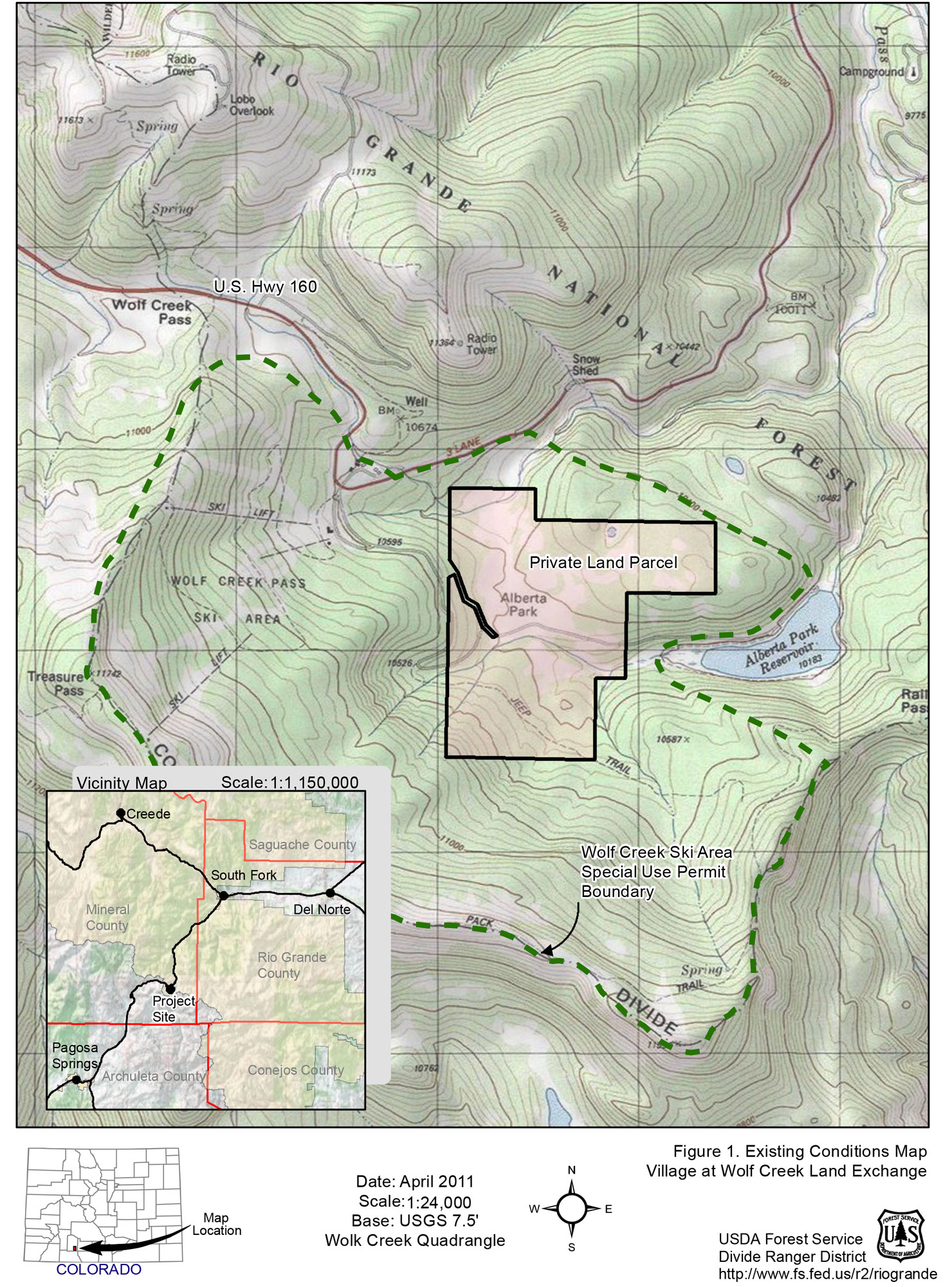 Photo: Wolf Creek Ski Village Squabble 2 | USFS Map - Courtesy