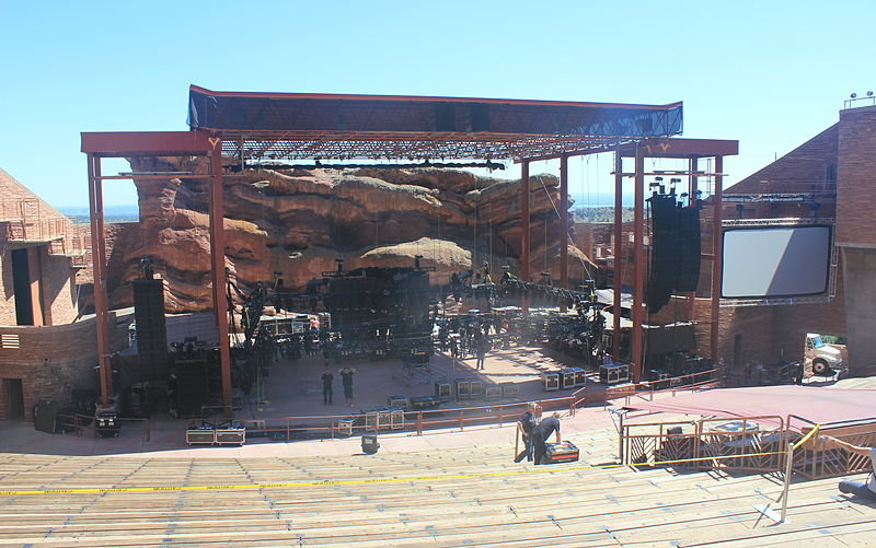 photo: Red Rocks stage