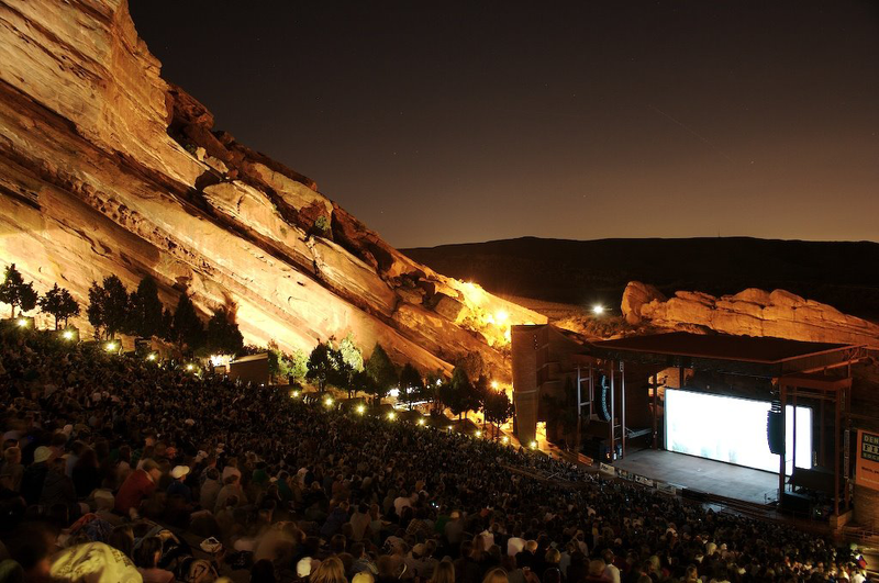 photo: Red Rocks at night