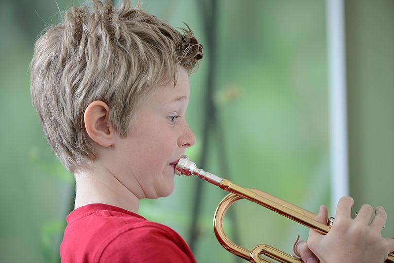 Photo: Boy with trumpet