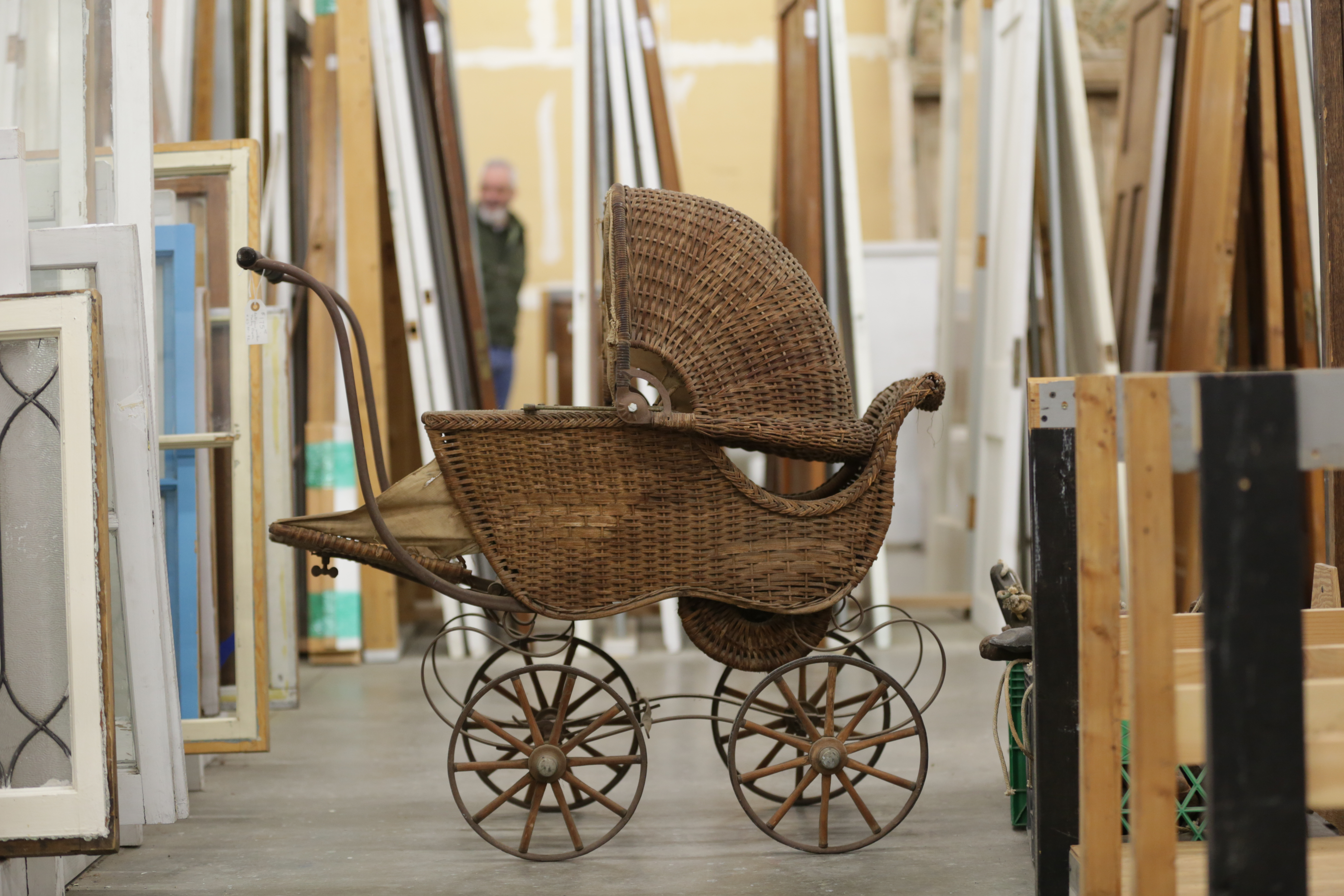 Photo: Architectural Salvage 4, Baby Carriage (HV)
