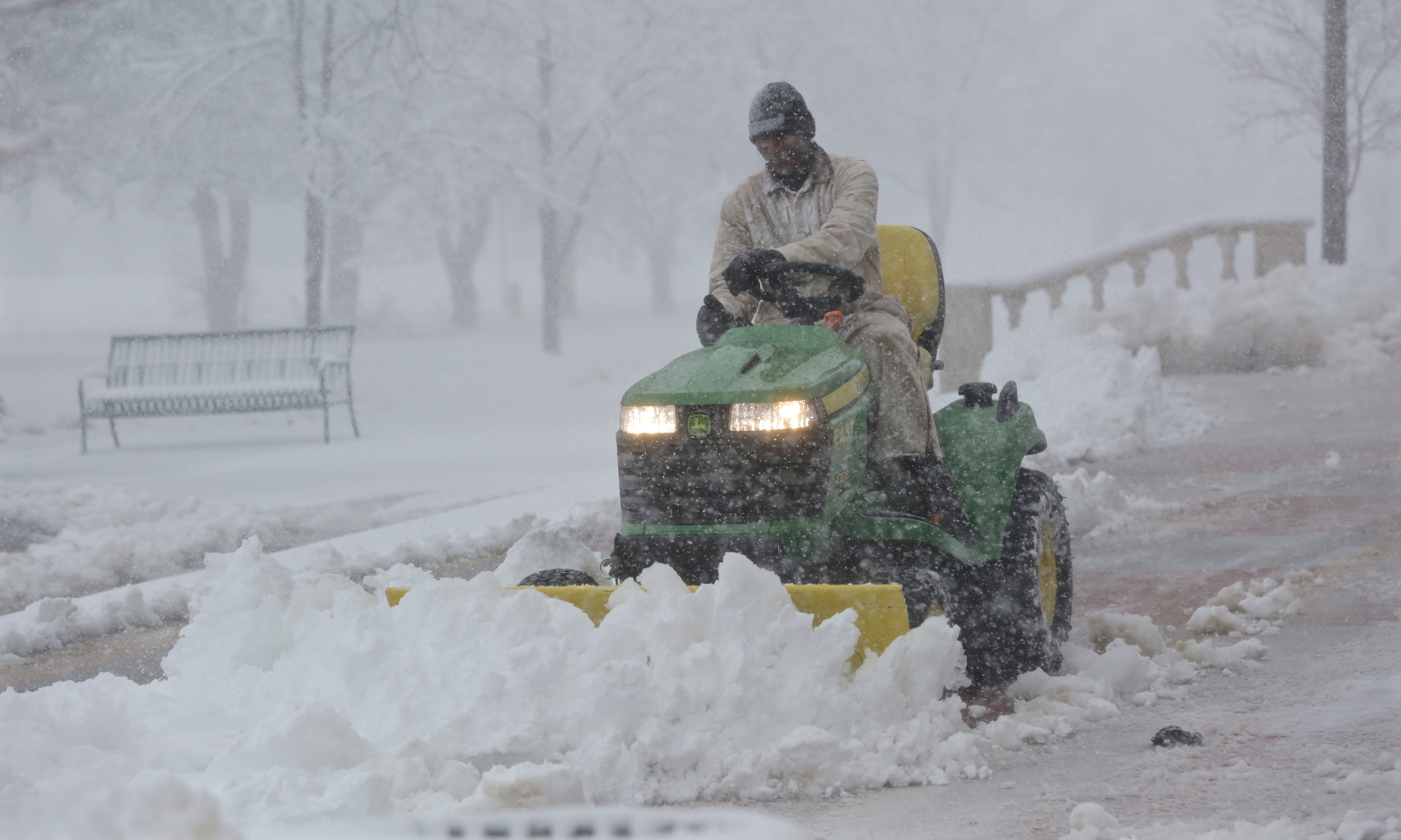 Photo: Winter Storm March 23 Plowing Snow At East High School Denver
