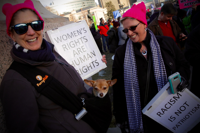 Photo: 2018 Women's March, Chihuahua In Coat
