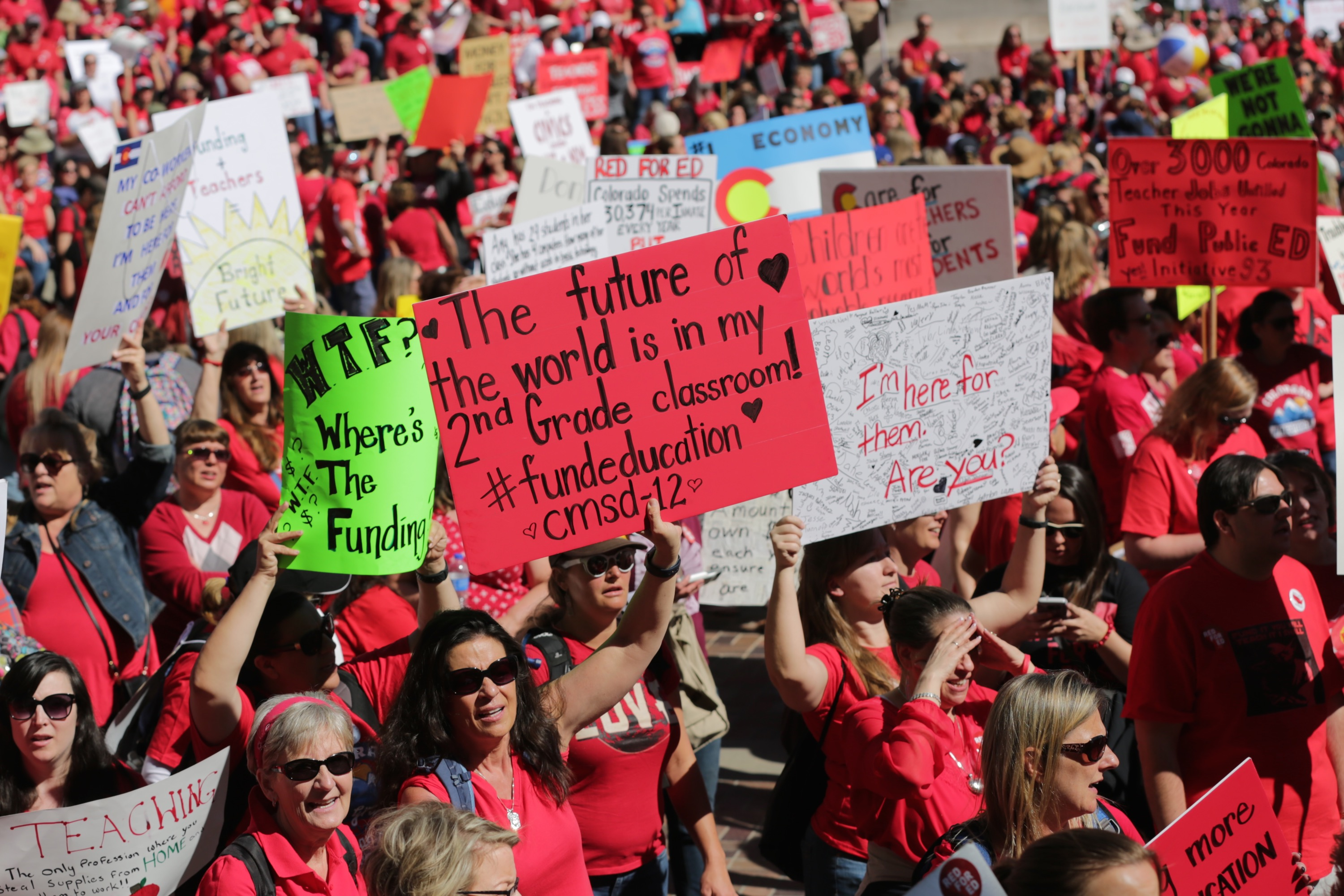 Photo: Teacher Walkout Second Day 14