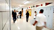 Photo: students in hallway