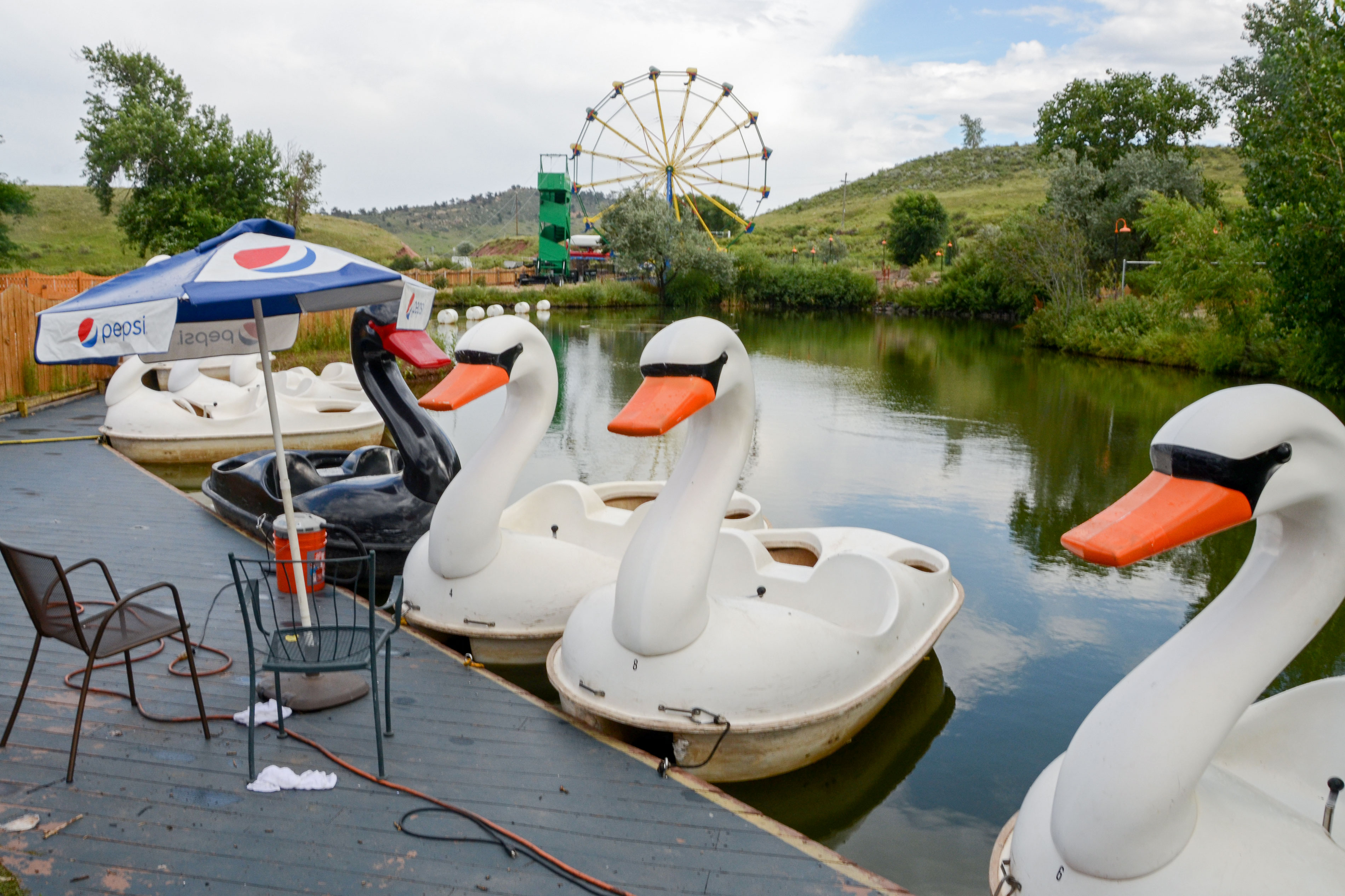 Photo: Heritage Amusement Park 4 | Pond Swans - AAwad