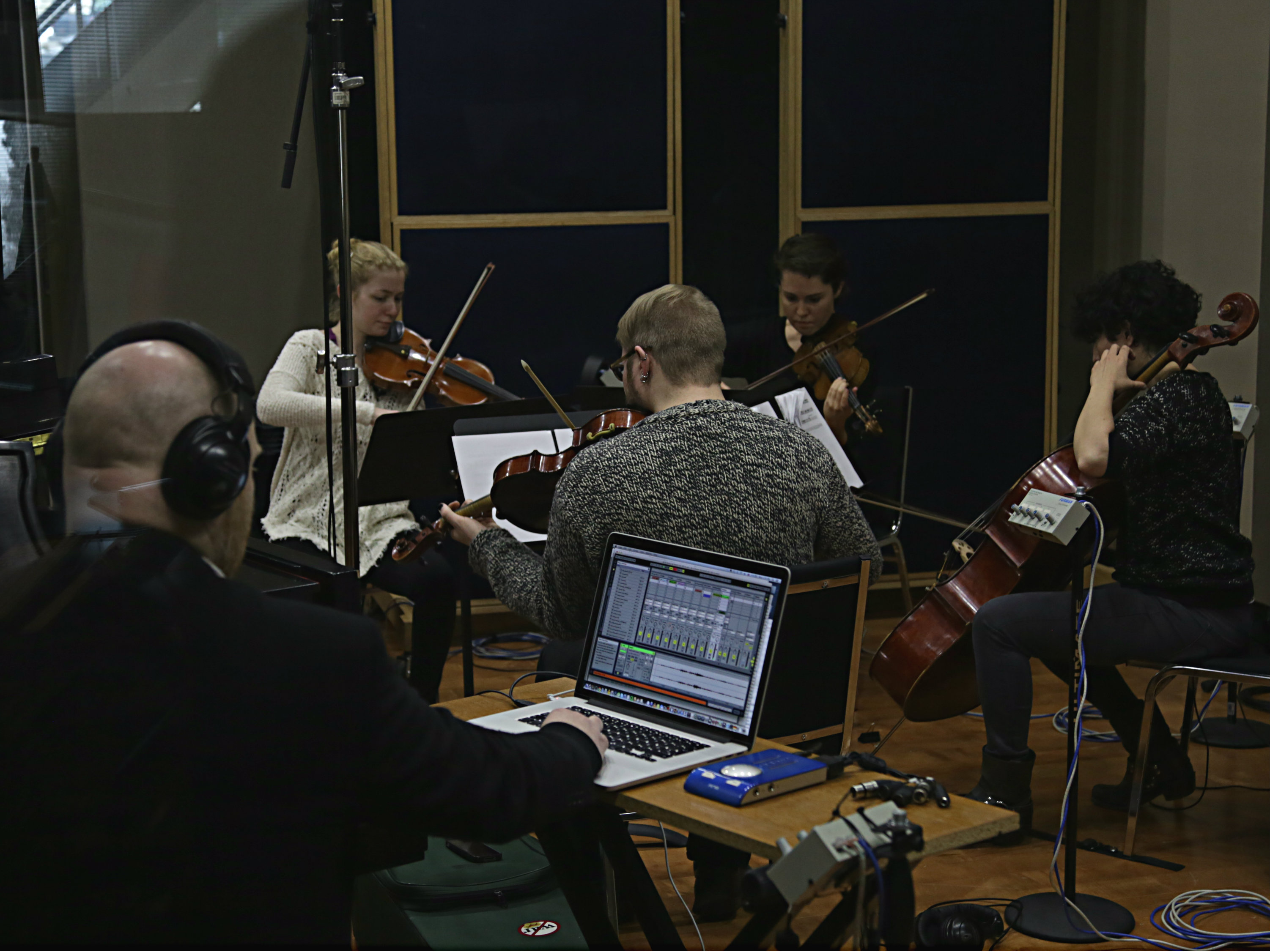 Photo: ACME and Johann Johannsson in the CPR Performance Studio