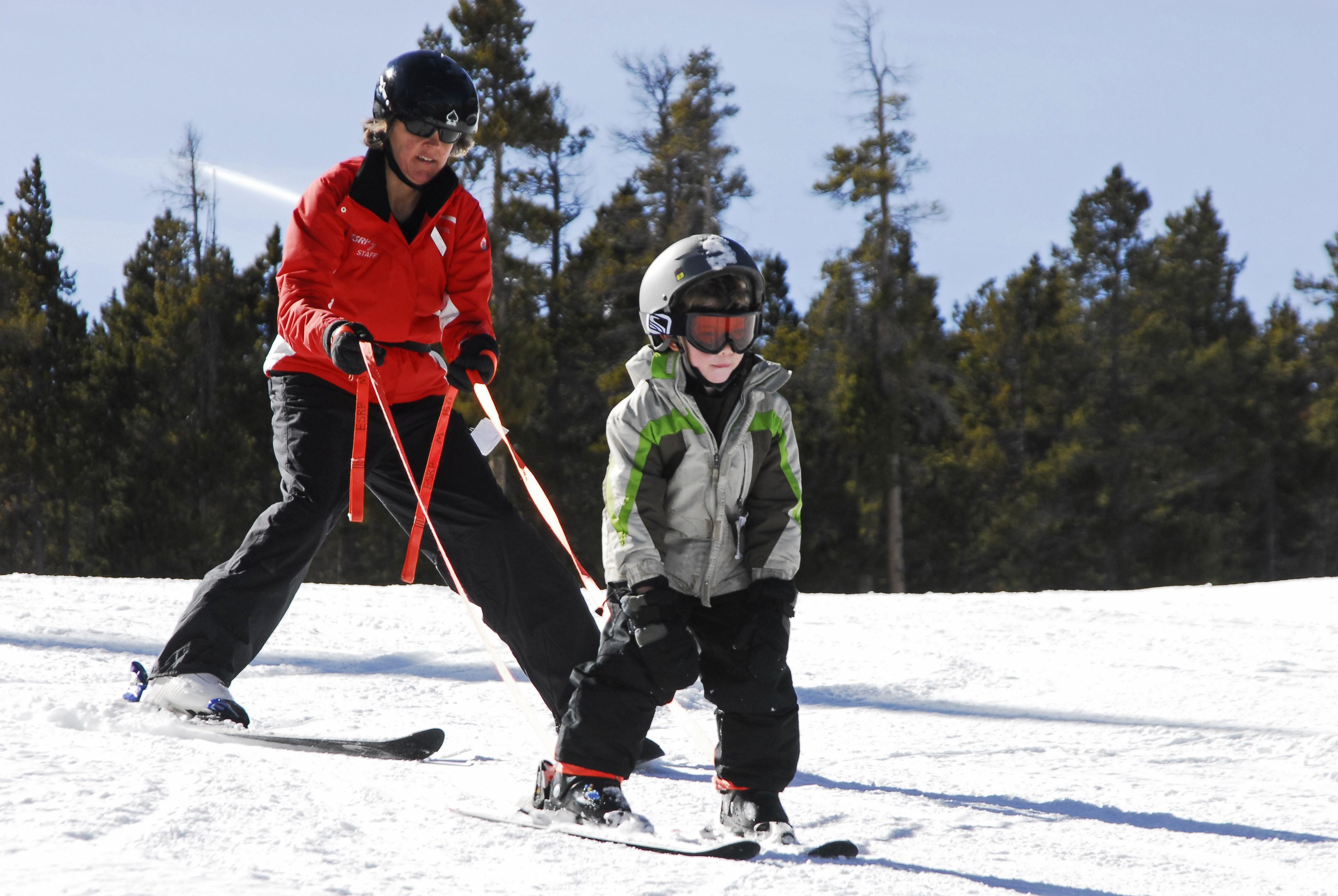 photo: Aidan Rotter skiing