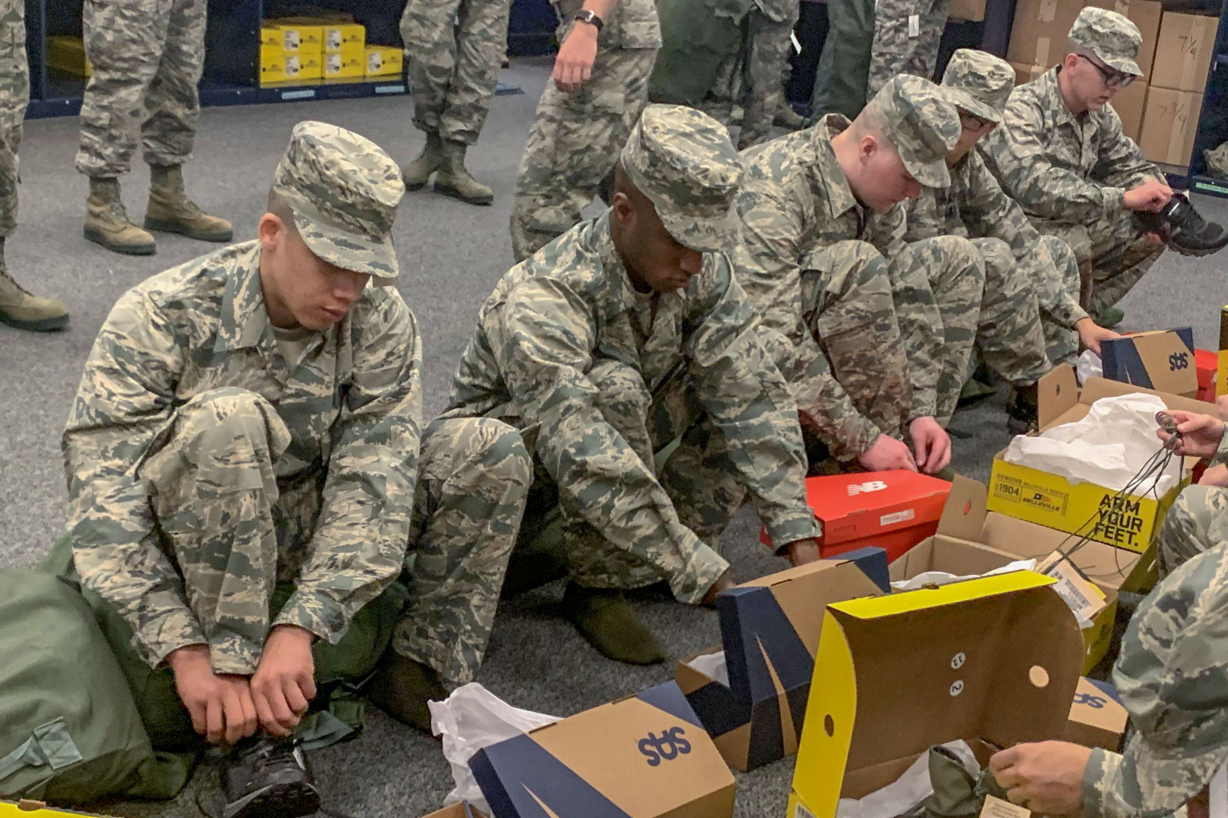 Photo: American Homefront Project Sneakers | Air Force Recruits w/ Shoes - Courtesy