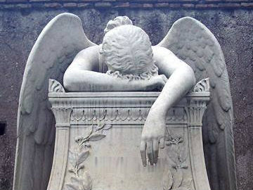 Photo: Angel of Grief sculpture