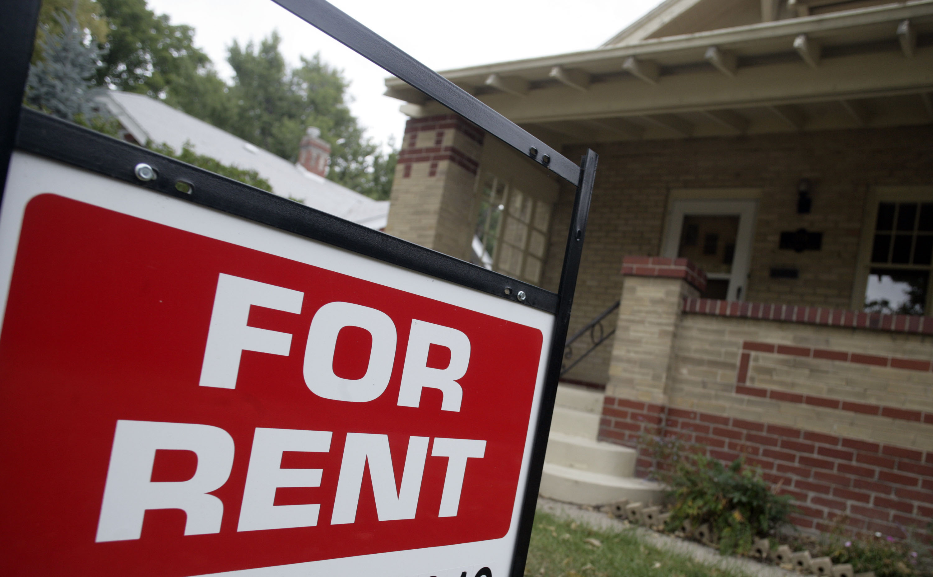 Photo: For rent sign (AP Photo)