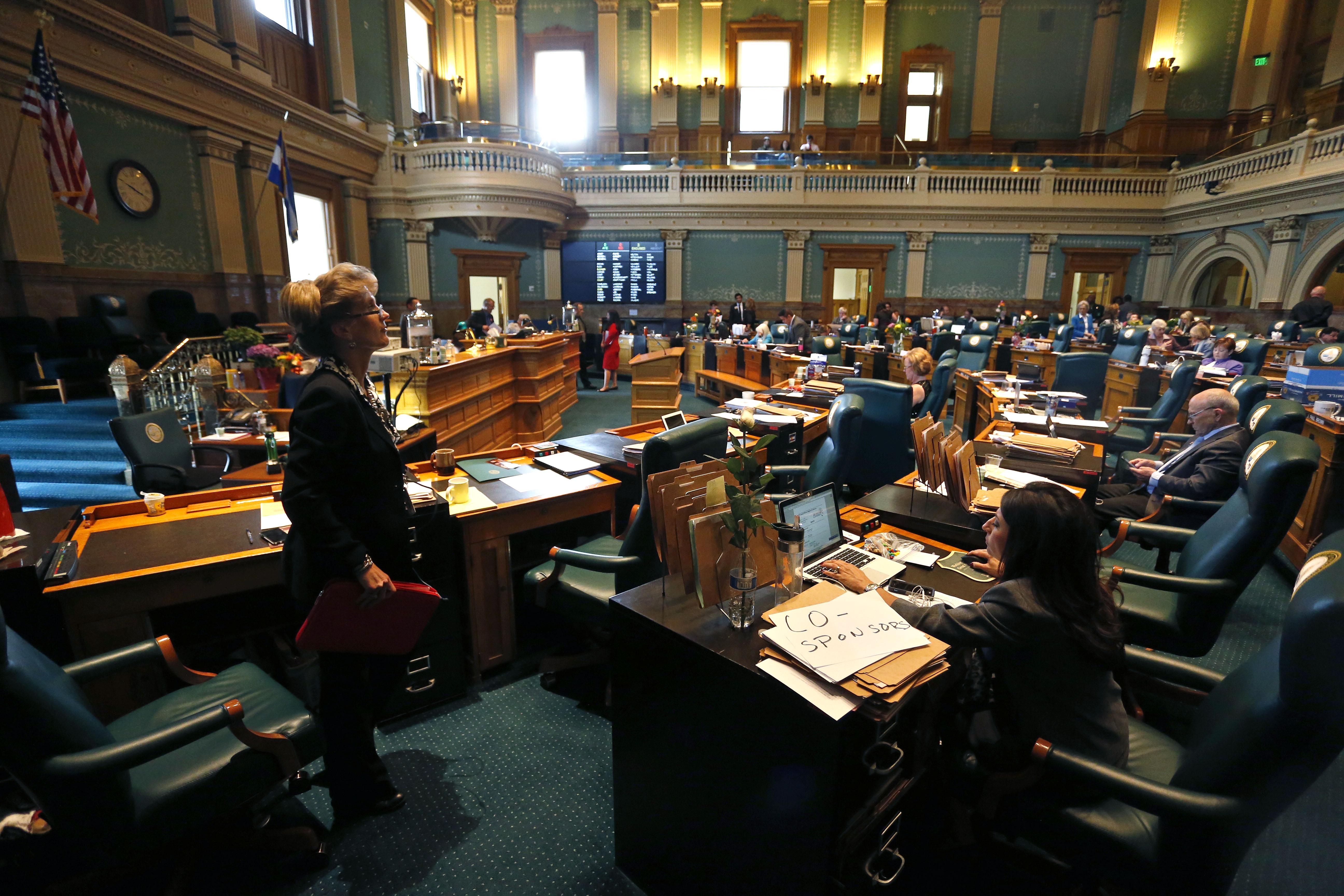 Photo: Colorado Legislature last day 2015 (AP Photo)