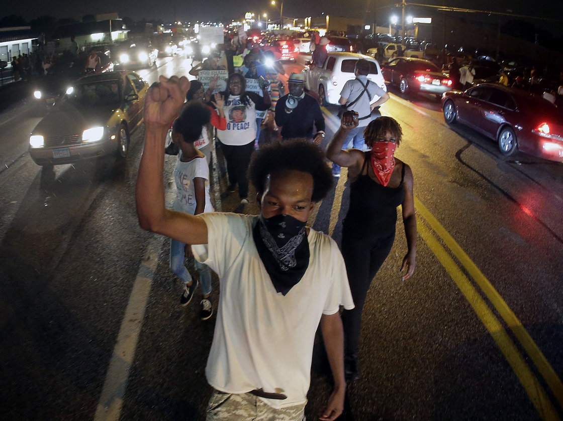 photo: Ferguson riot NPR